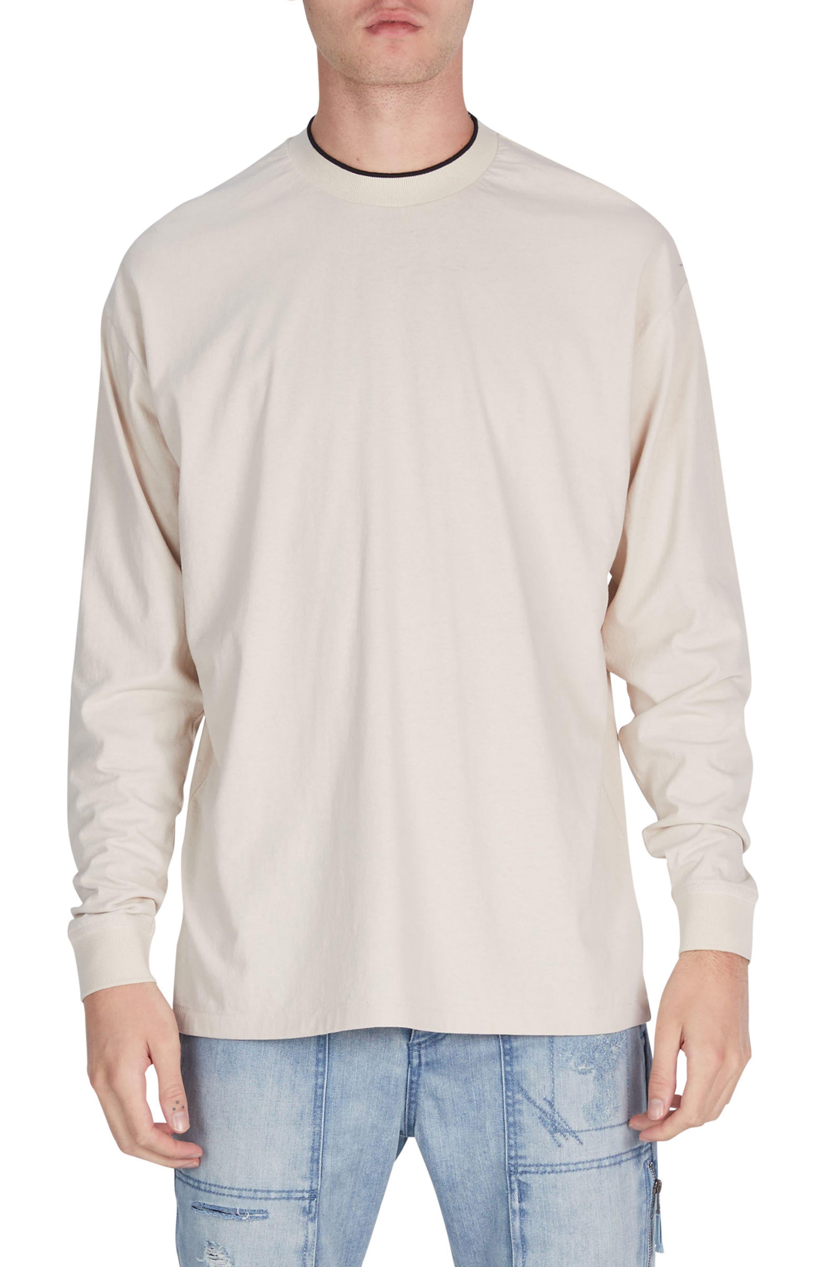 Tipped Boxy T-Shirt,                         Main,                         color, Natural