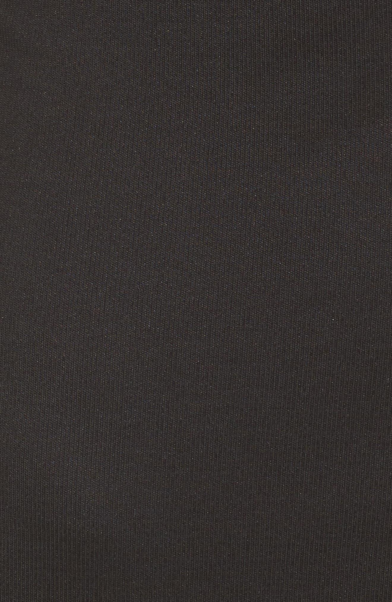 Snap Front Henley Dress,                             Alternate thumbnail 4, color,                             Black