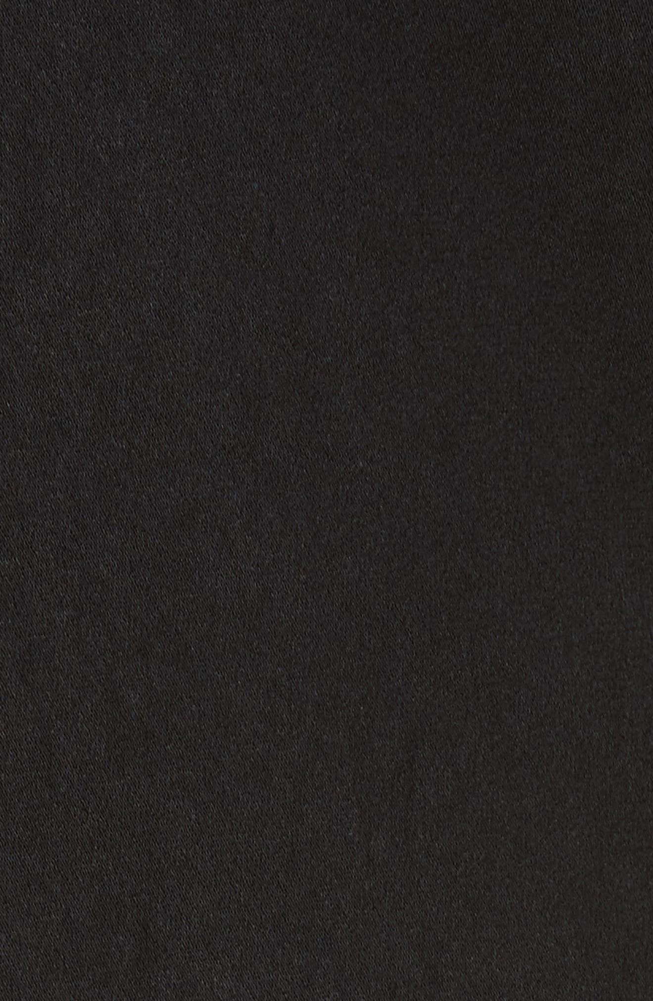 Fandango Fringed Slipdress,                             Alternate thumbnail 5, color,                             Black