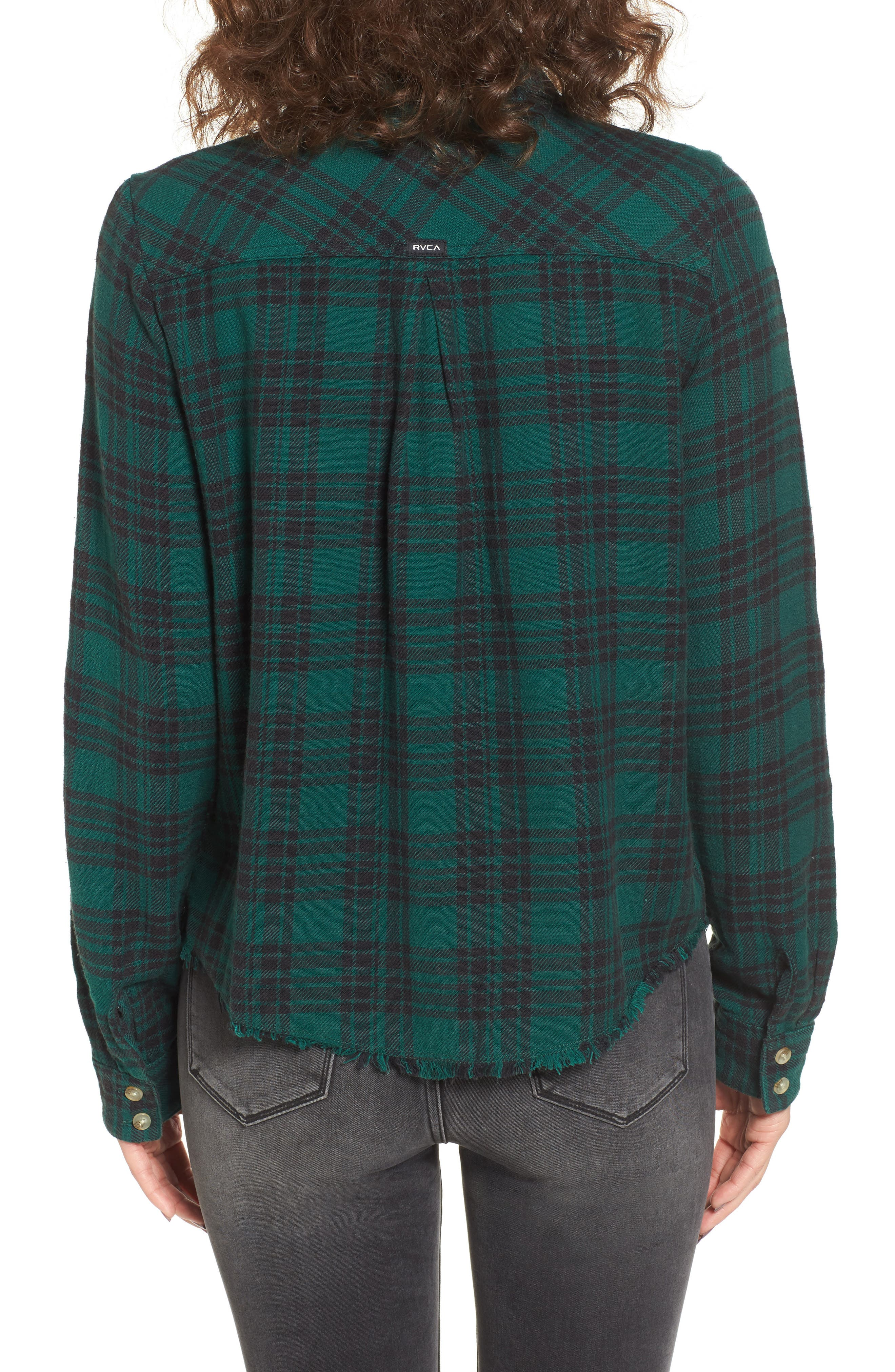 In a Haze Plaid Cotton Shirt,                             Alternate thumbnail 2, color,                             Garden Green