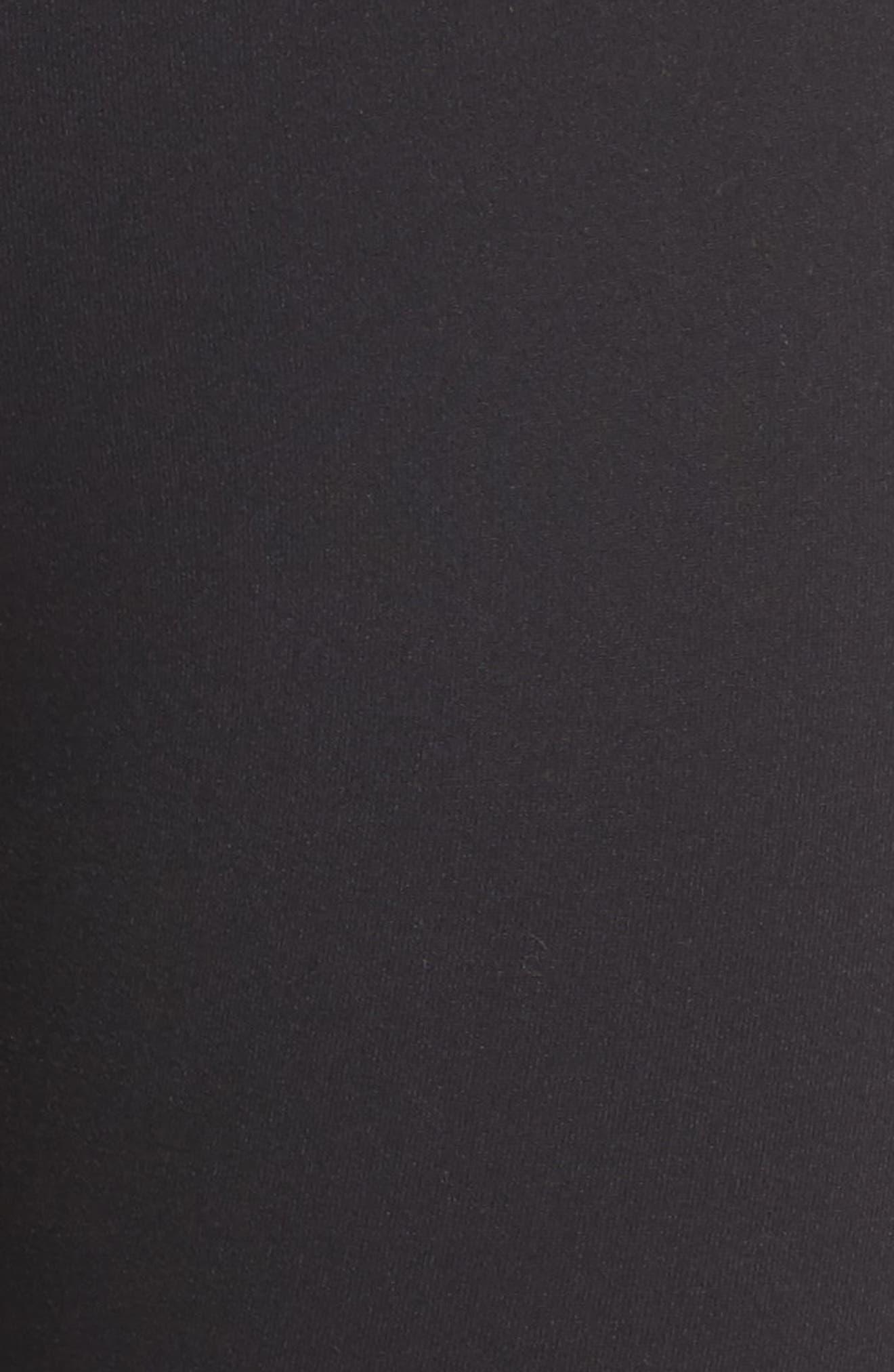Covet High Waist Midi Leggings,                             Alternate thumbnail 6, color,                             Black
