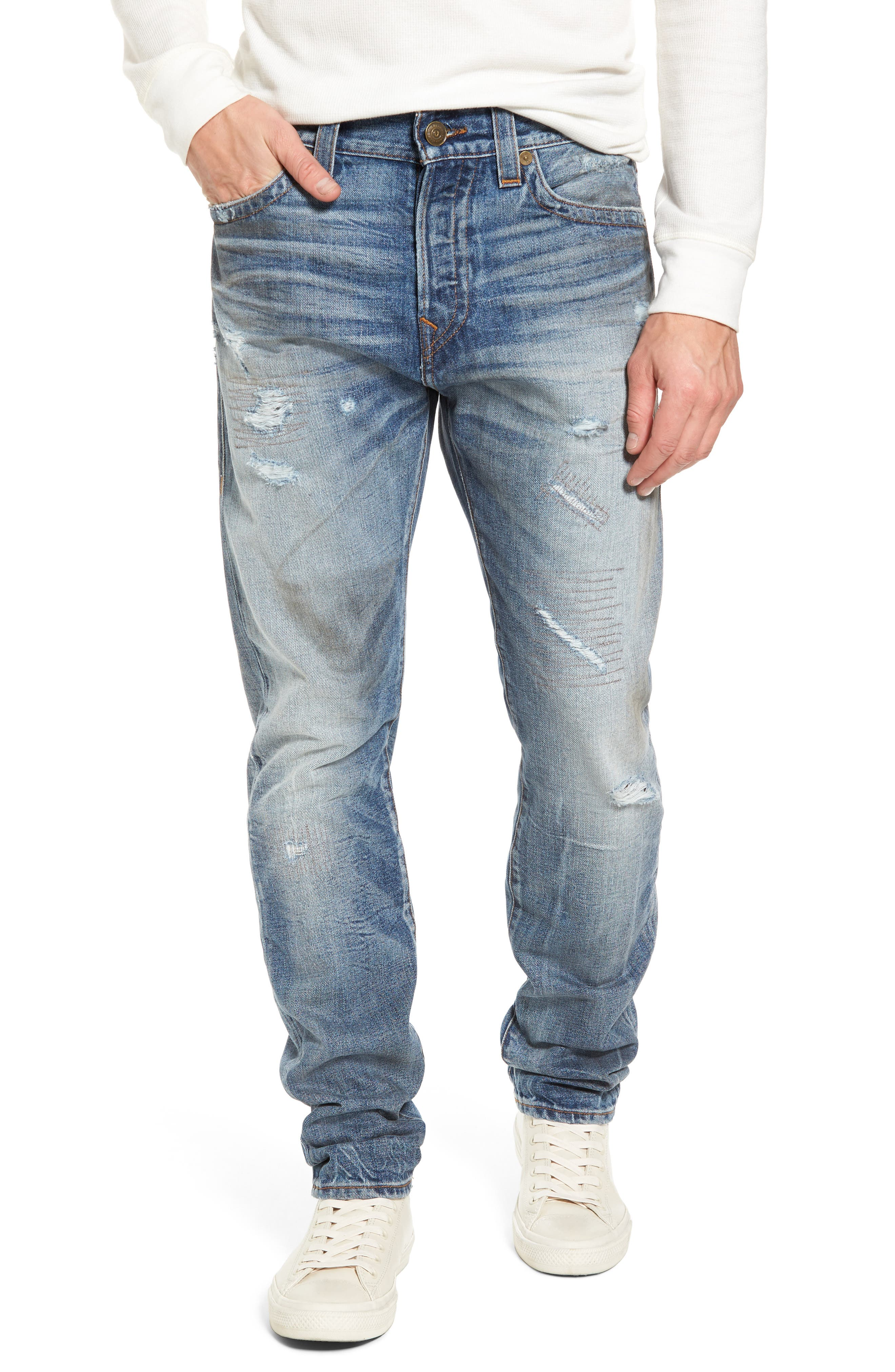 Alternate Image 1 Selected - True Religion Brand Jeans Logan Slim Straight Fit Jeans (Mended Street Brawl)