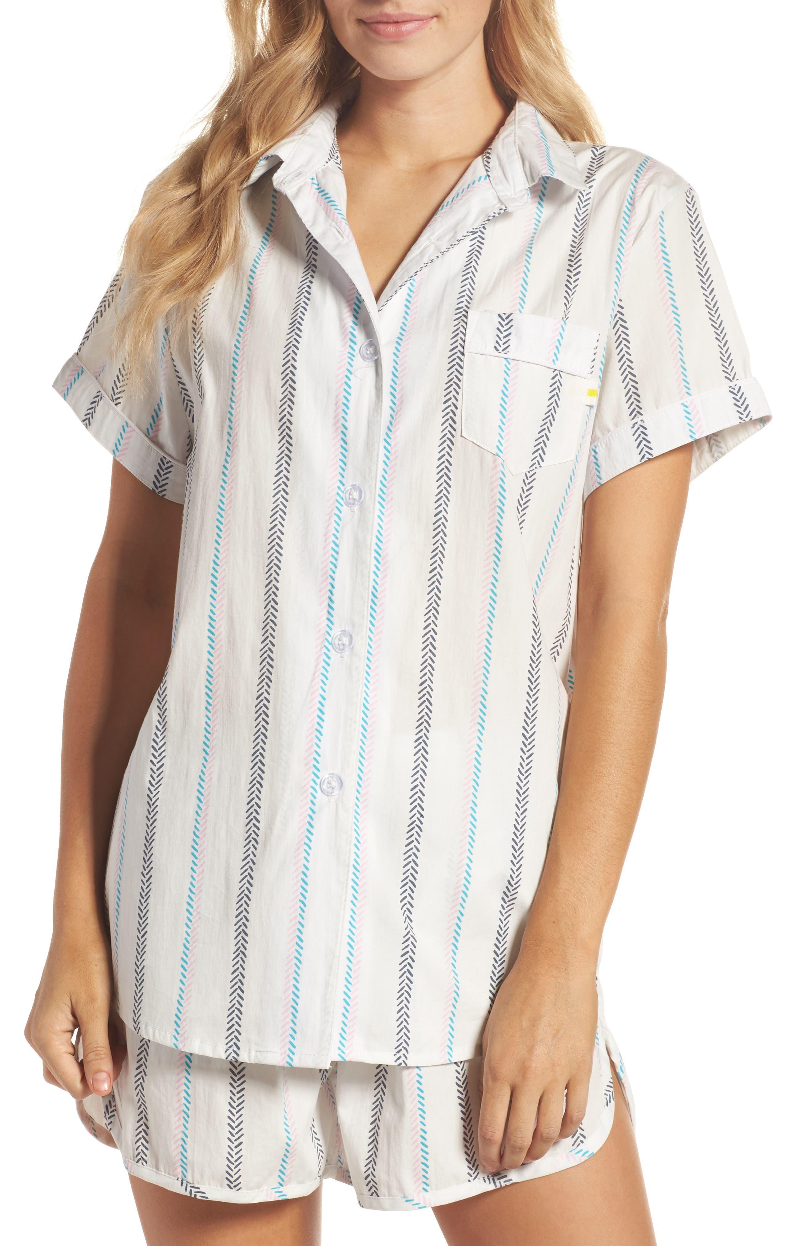 Kit Short Pajamas,                         Main,                         color, Base Stripe Pink Multi