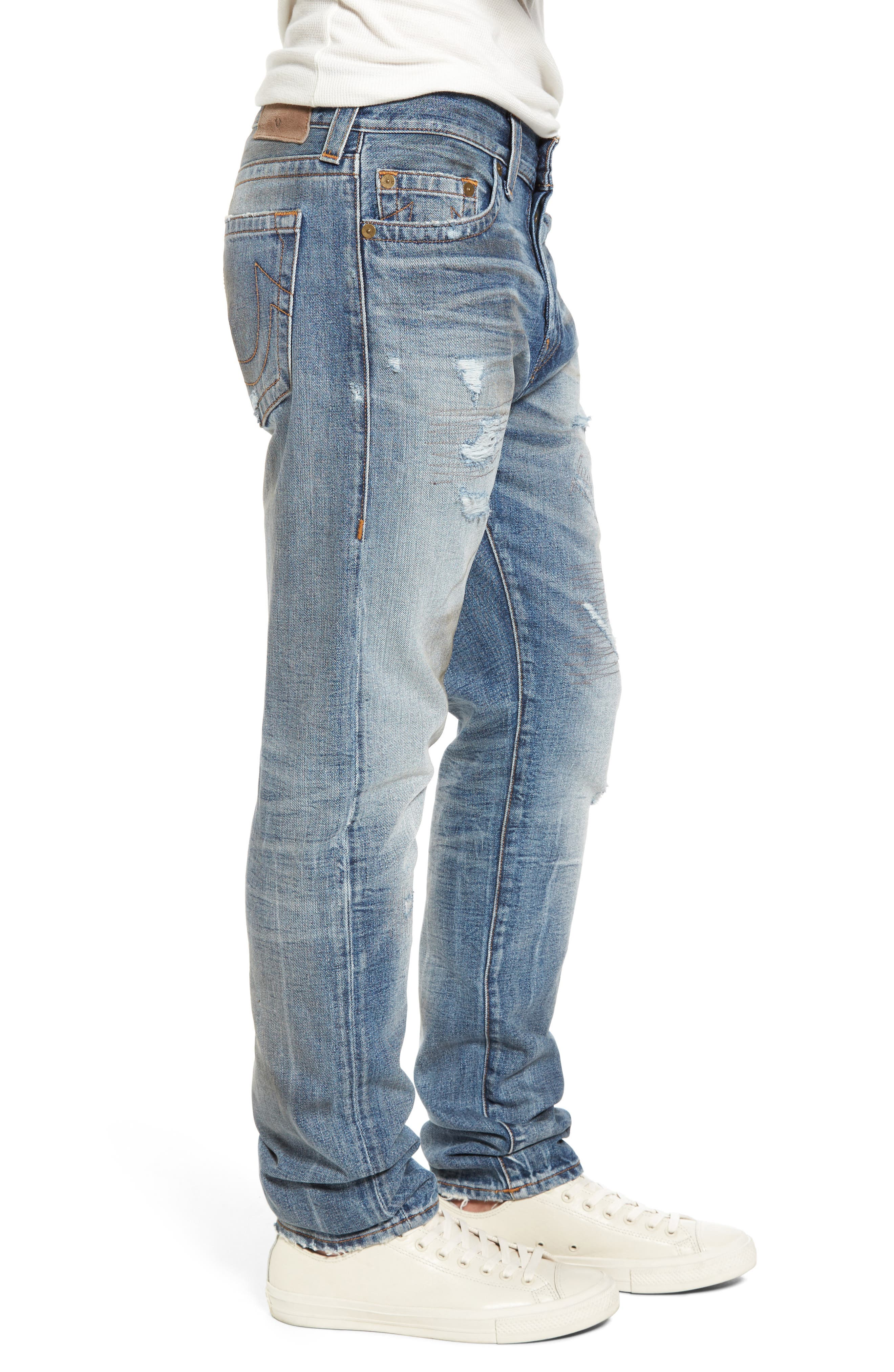 Alternate Image 3  - True Religion Brand Jeans Logan Slim Straight Fit Jeans (Mended Street Brawl)