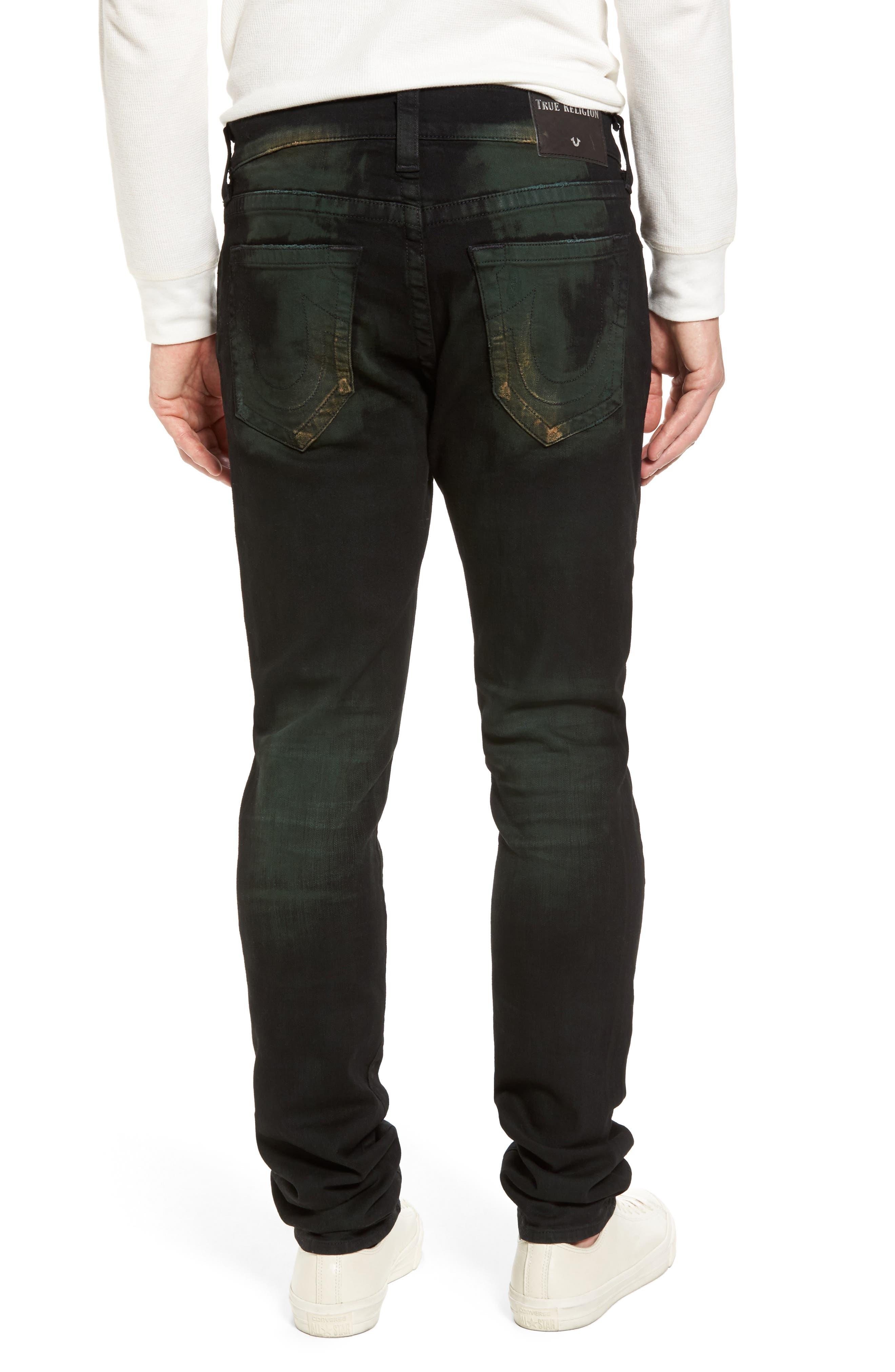 Alternate Image 2  - True Religion Brand Jeans Rocco Skinny Fit Jeans (Green Blaze)