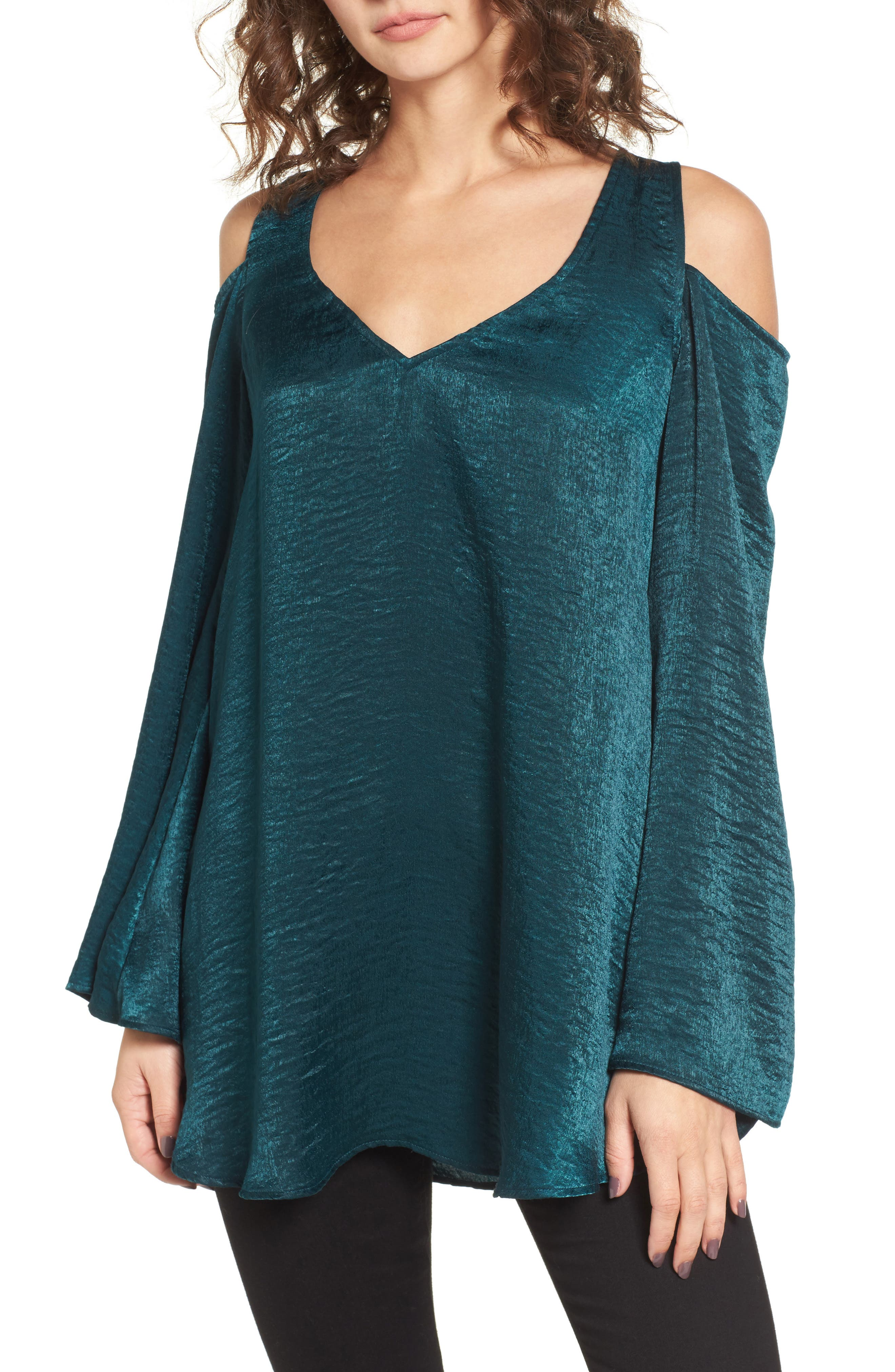 Show Me Your Mumu Boo Cold Shoulder Tunic