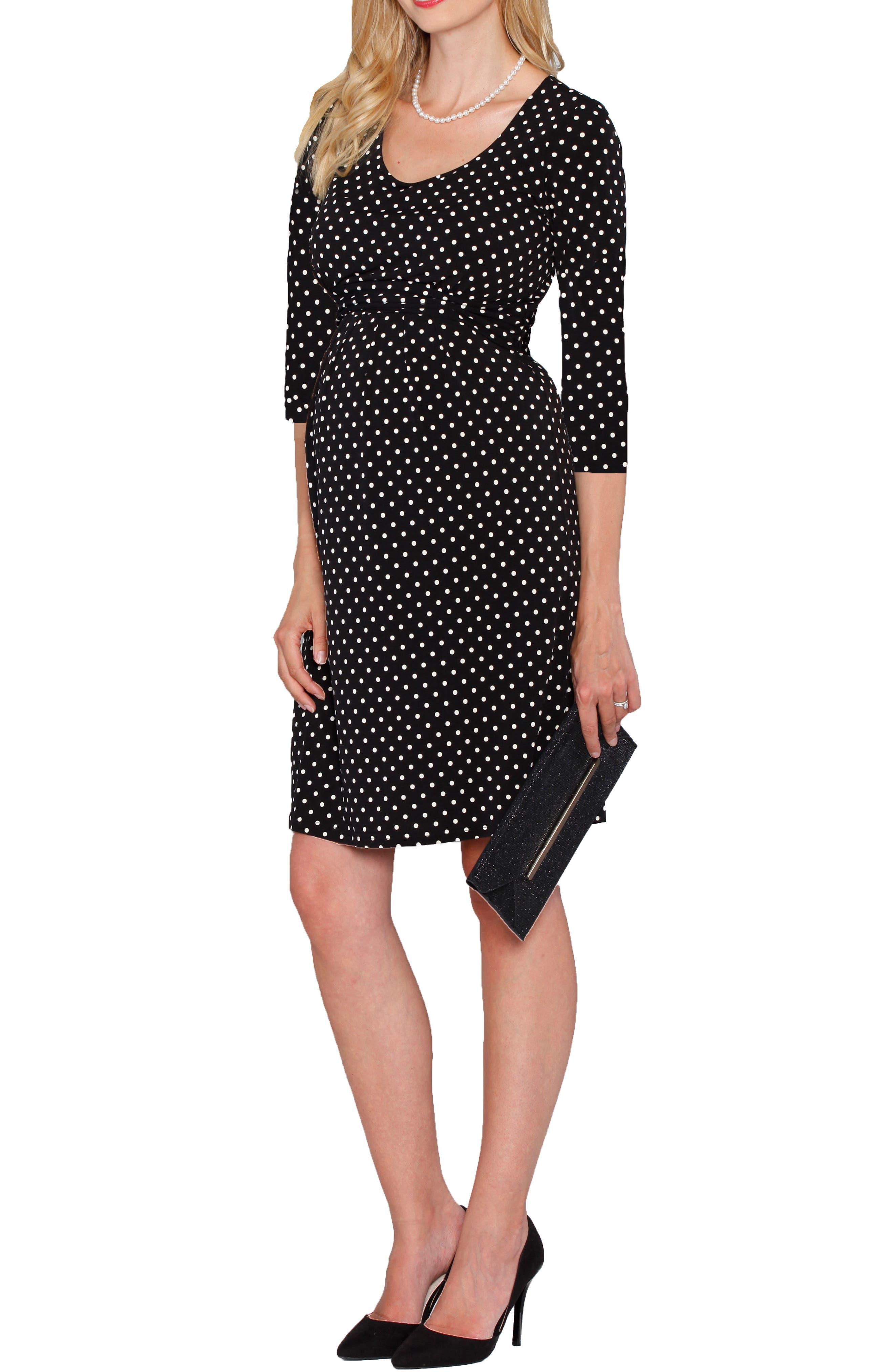 Busy Mom Maternity/Nursing Dress,                         Main,                         color, Polka Dots