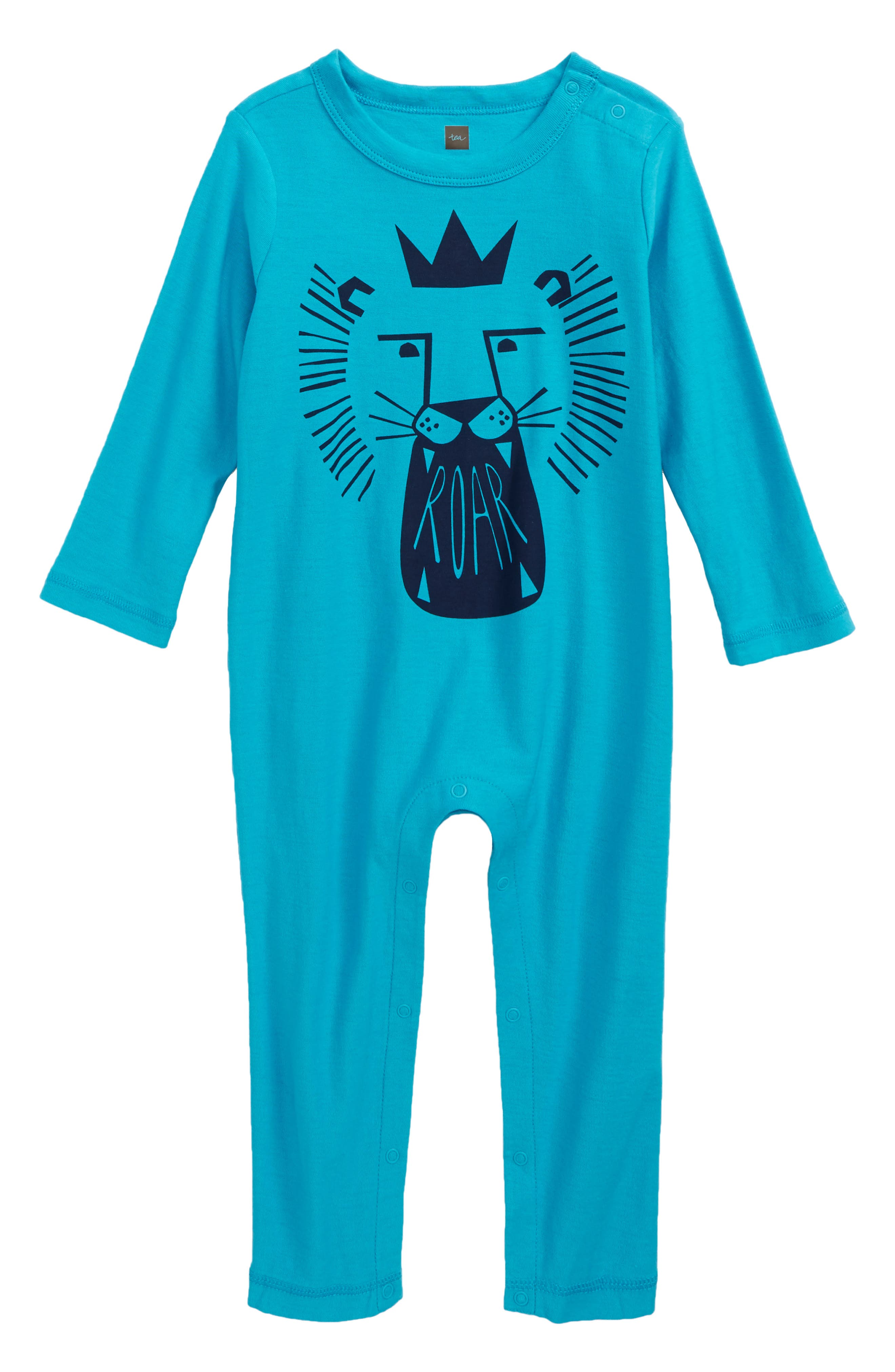 Alternate Image 1 Selected - Tea Collection MacDuff Graphic Romper (Baby Boys)
