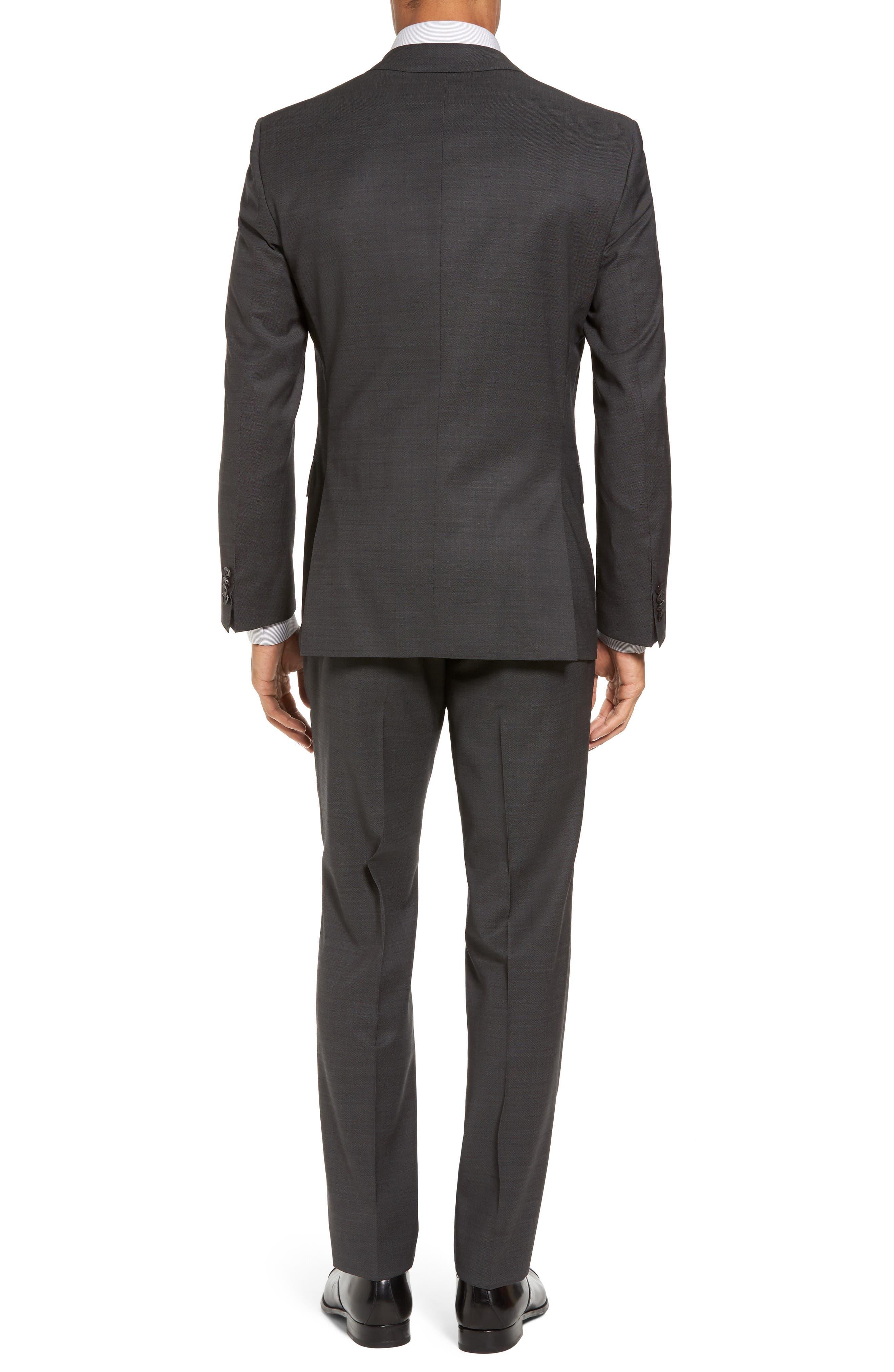Huge/Genius Trim Fit Solid Wool Suit,                             Alternate thumbnail 2, color,                             Open Grey