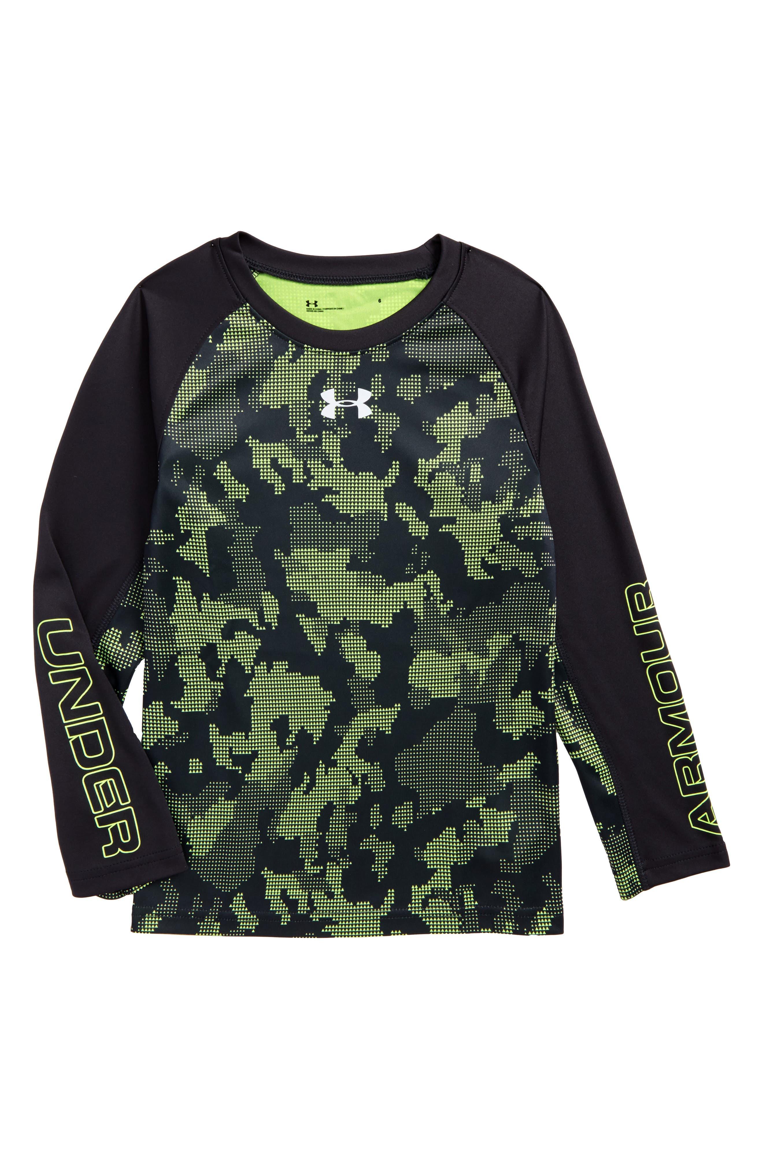 Alternate Image 1 Selected - Under Armour Utility Raglan Long Sleeve T-Shirt (Toddler Boys & Little Boys)