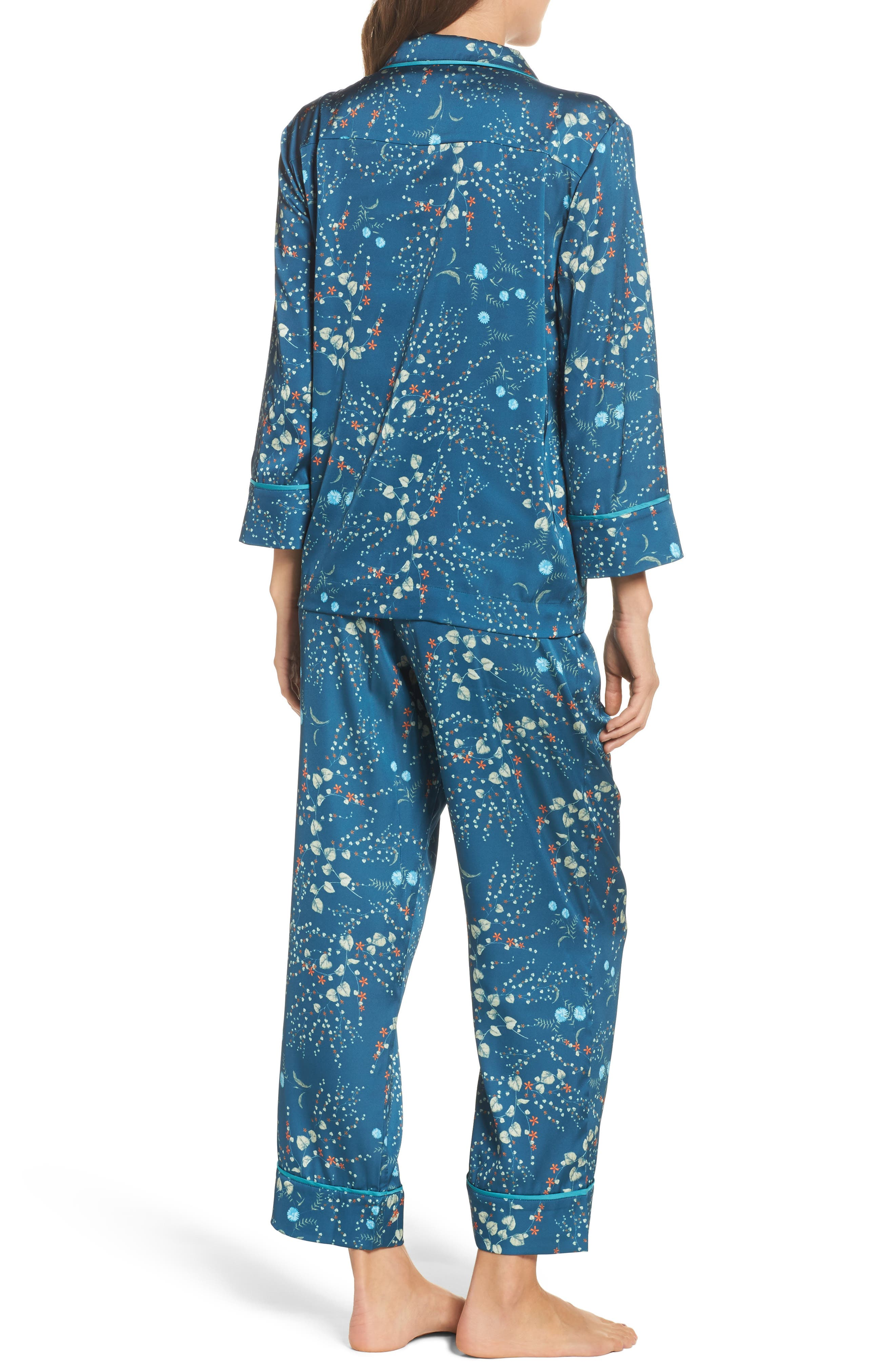 Alternate Image 2  - Bed to Brunch Botanical Crop Pajamas
