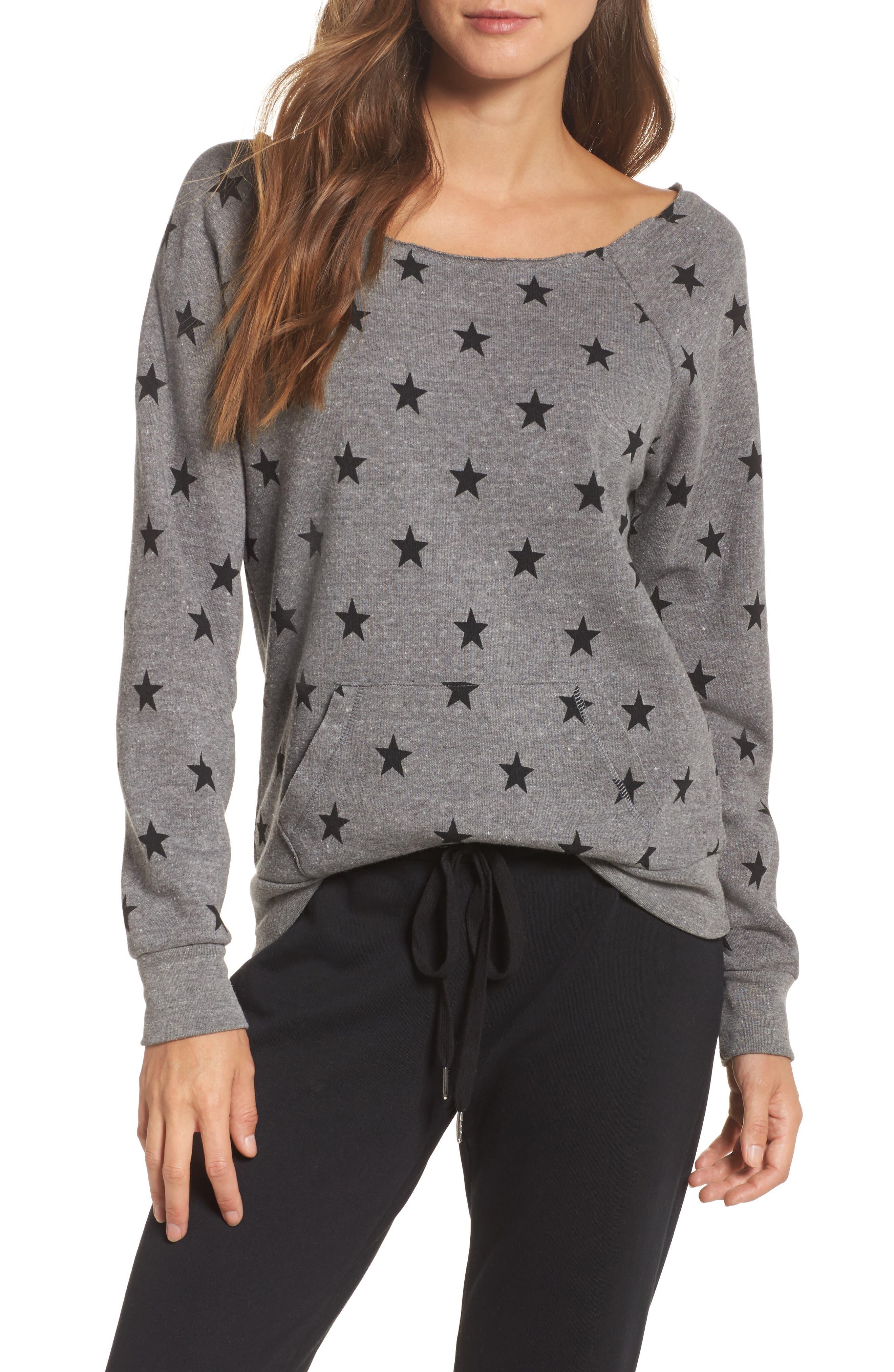 Maniac Camo Fleece Sweatshirt,                             Main thumbnail 1, color,                             Eco Grey Stars