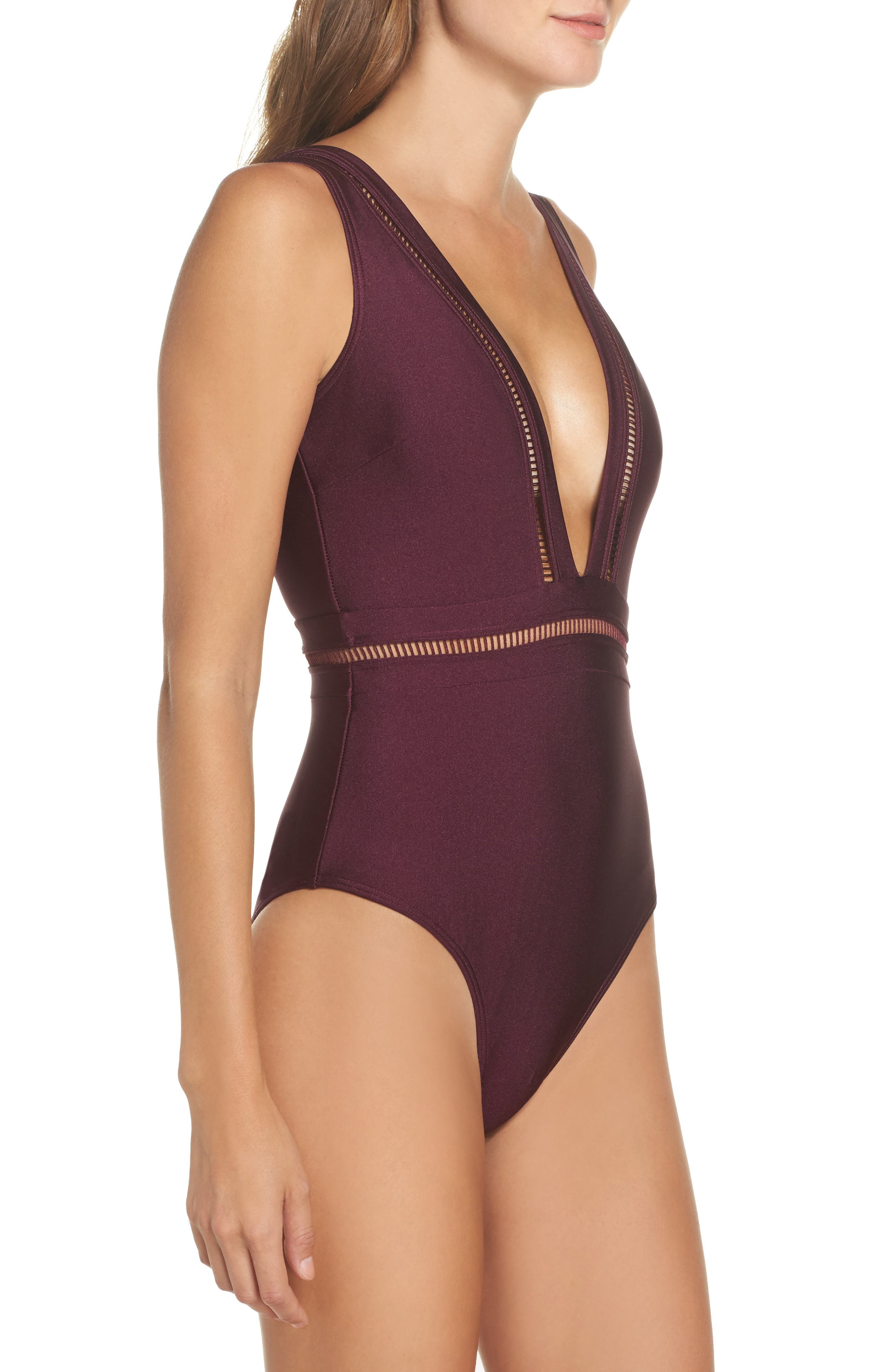 Alternate Image 3  - Ted Baker London Plunge One Piece Swimsuit