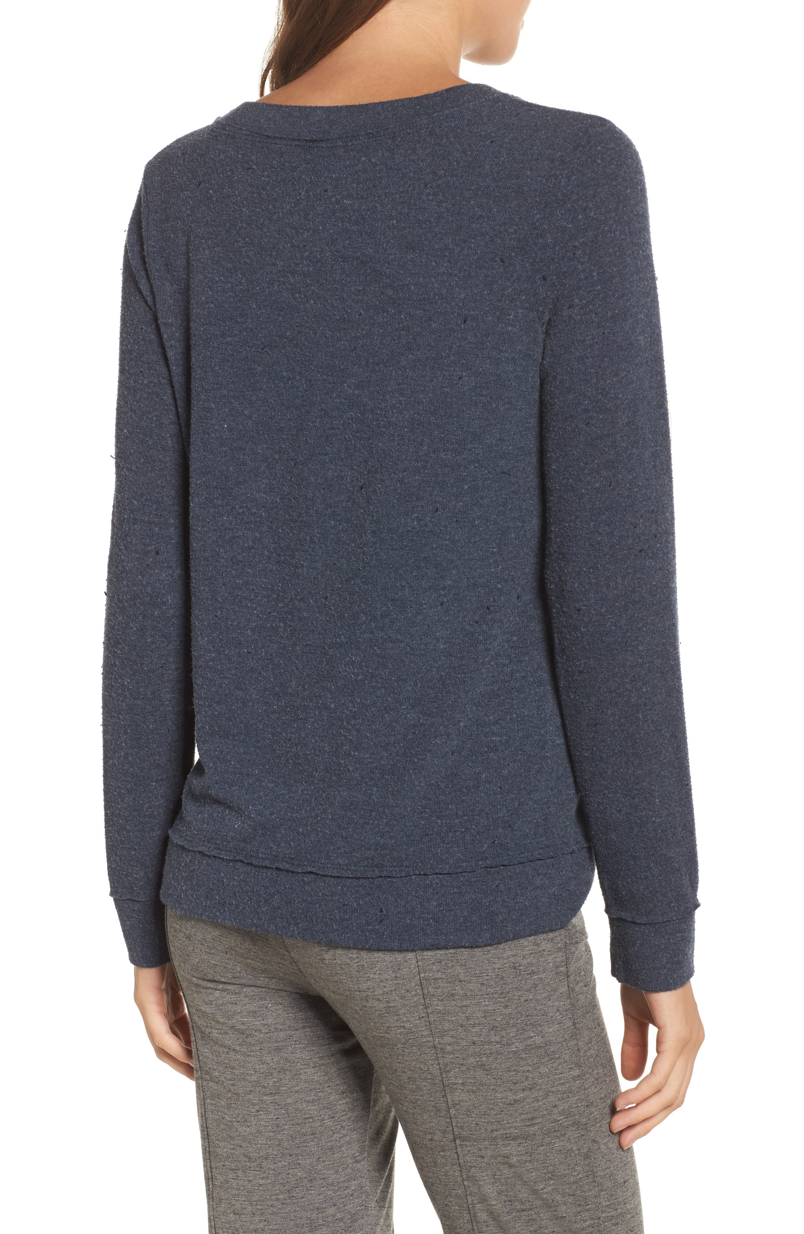 Lazy Weekend Love Knit Sweatshirt,                             Alternate thumbnail 2, color,                             Avalon