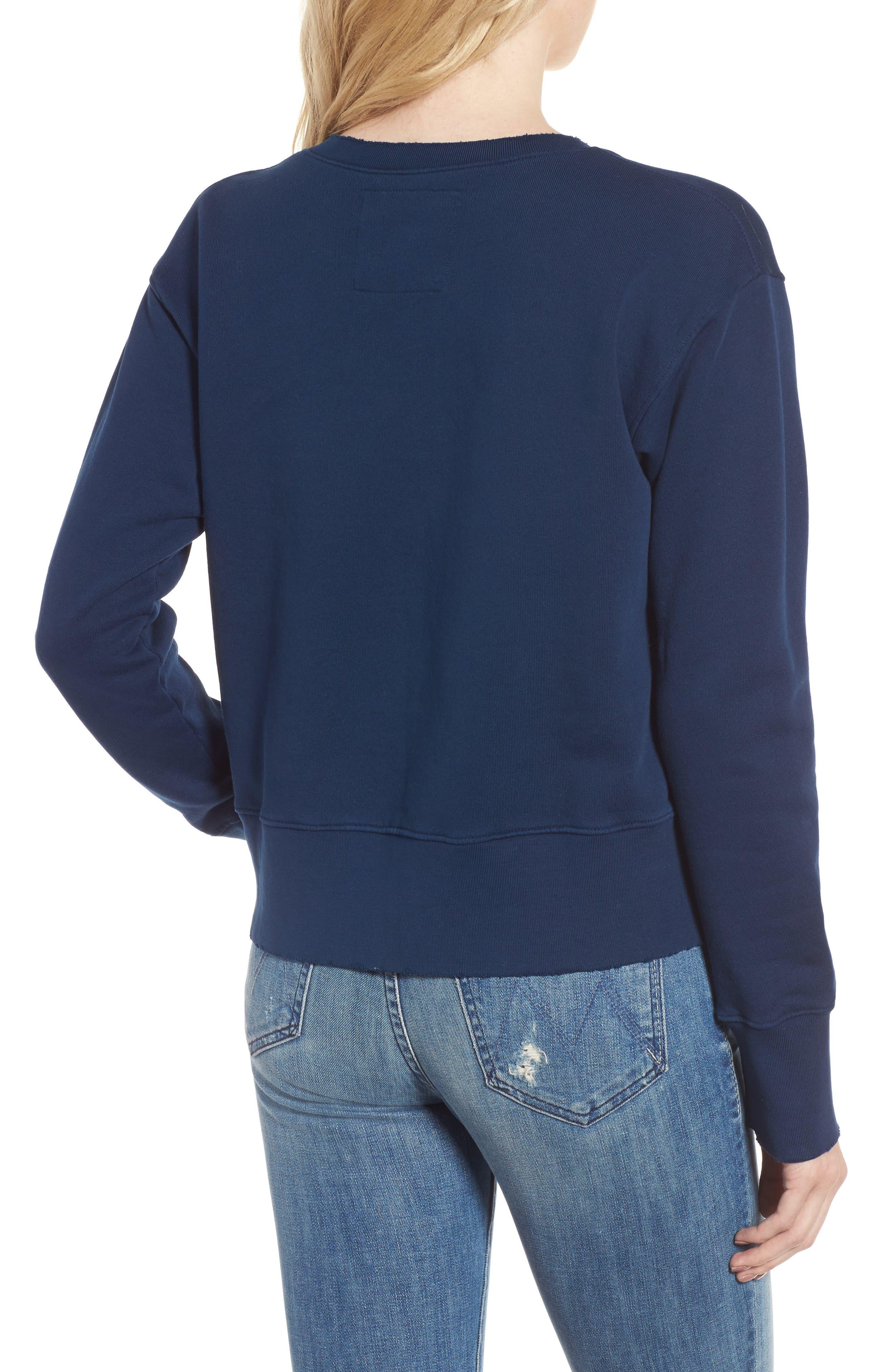 Distressed Sweatshirt,                             Alternate thumbnail 2, color,                             Blazer