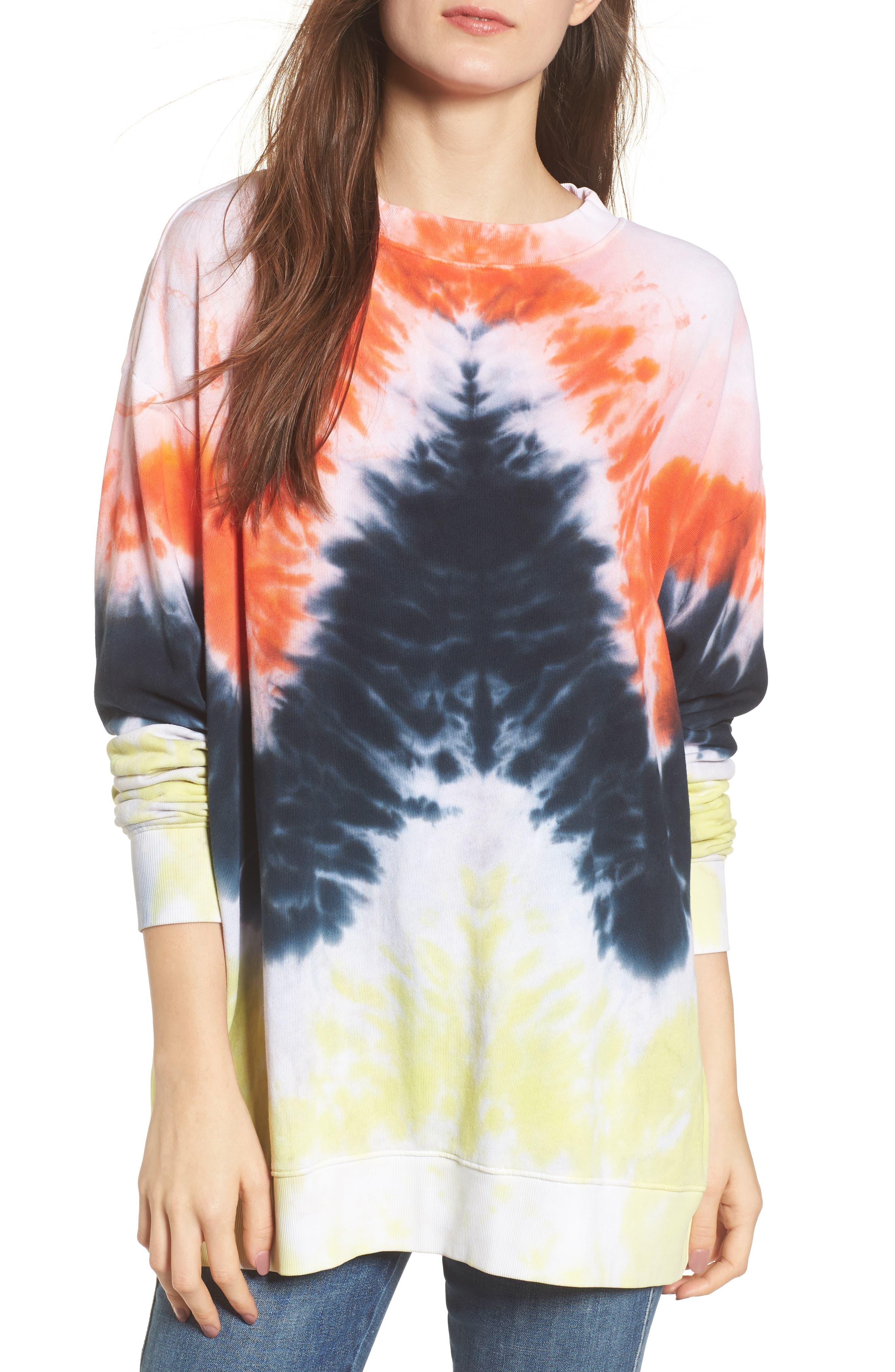 Road Trip Sweatshirt,                         Main,                         color, Burst Tie Dye