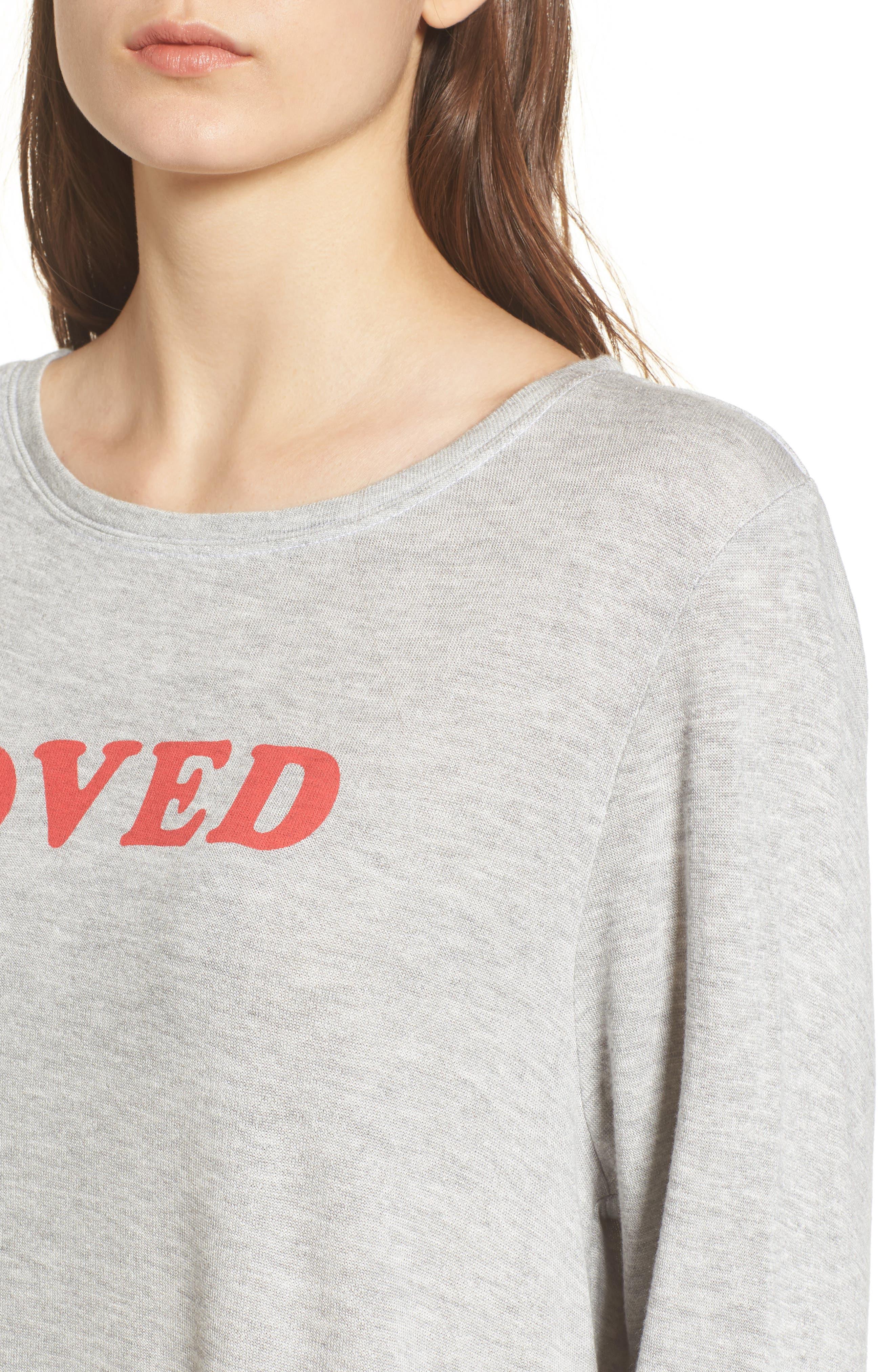 Alternate Image 4  - Wildfox Loved Sweatshirt