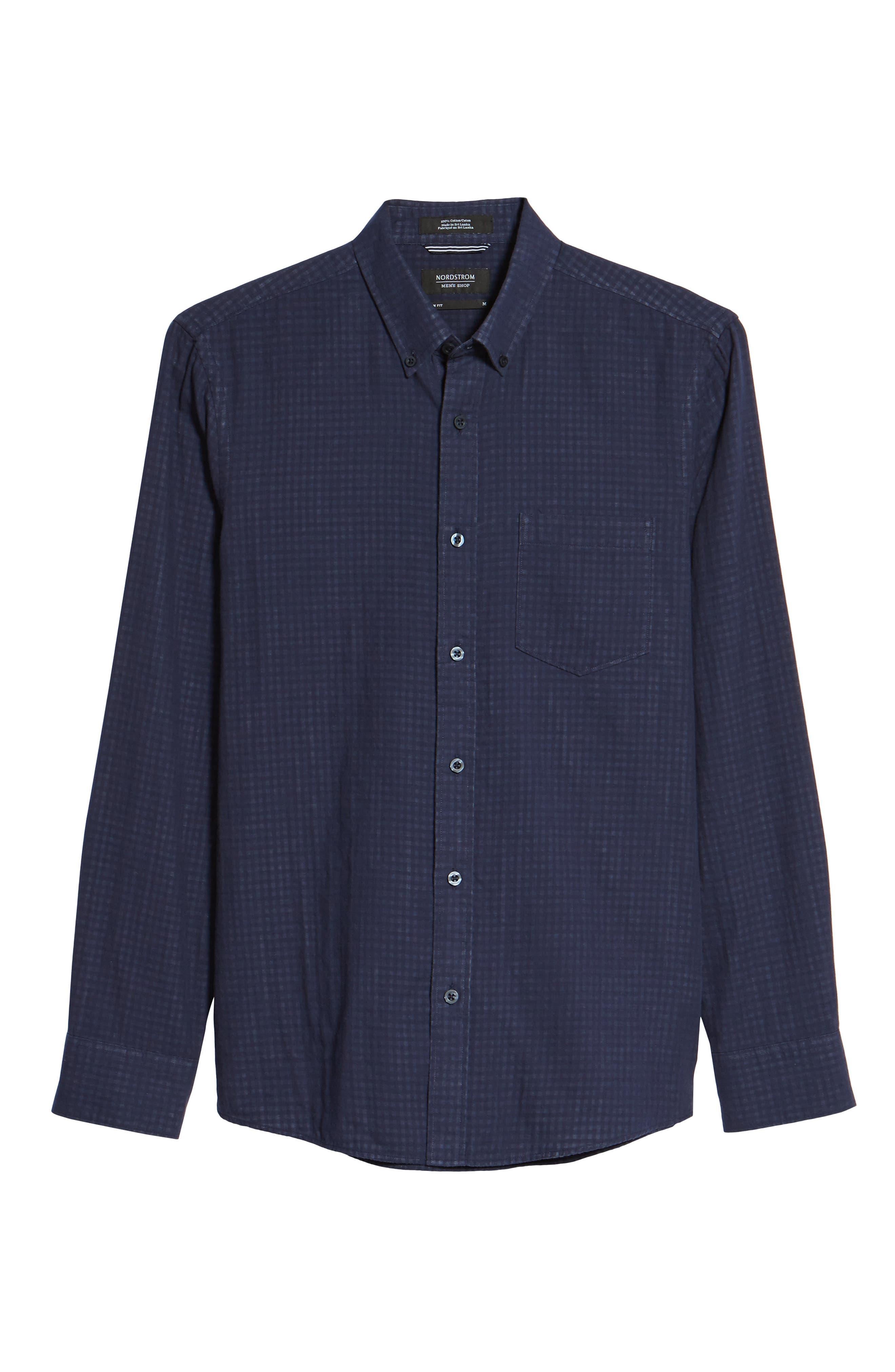 Alternate Image 6  - Nordstrom Men's Shop Trim Fit Duofold Sport Shirt