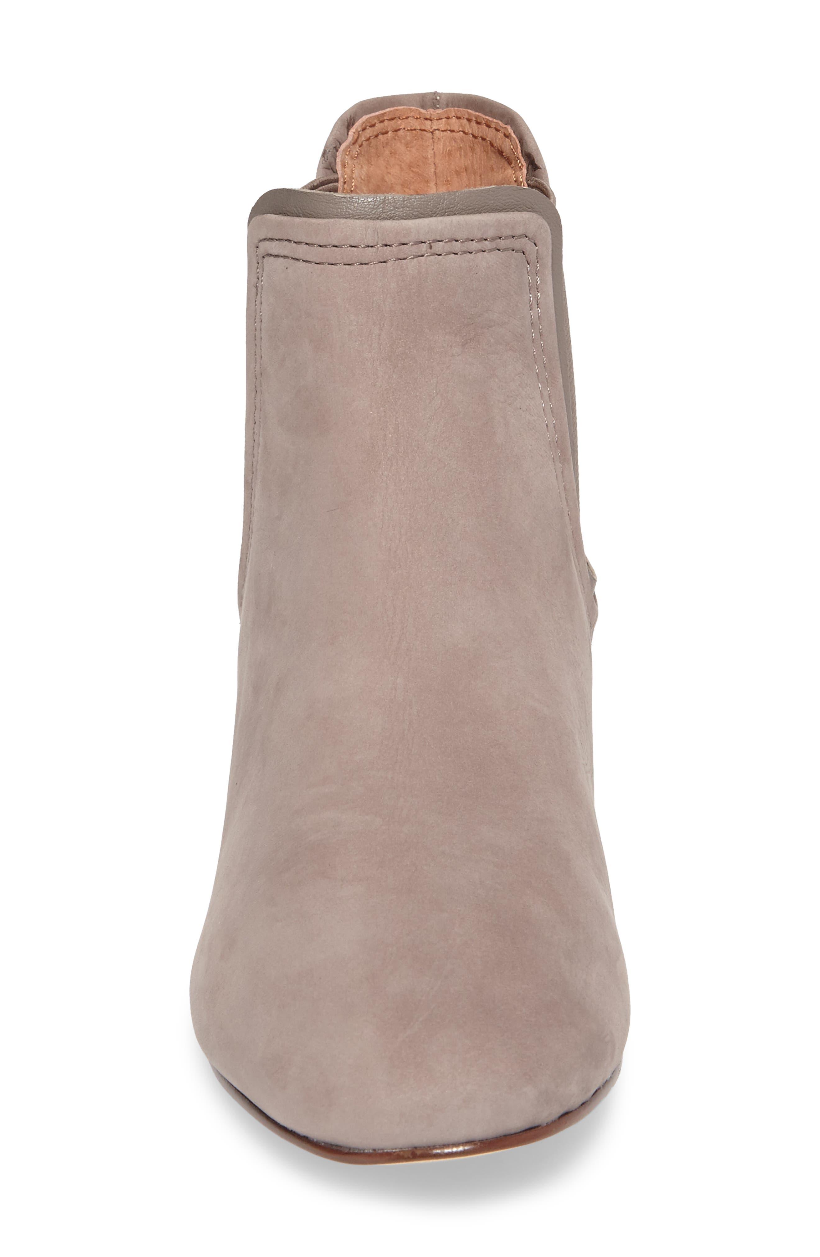 Waldon Chelsea Boot,                             Alternate thumbnail 4, color,                             Gravel Leather