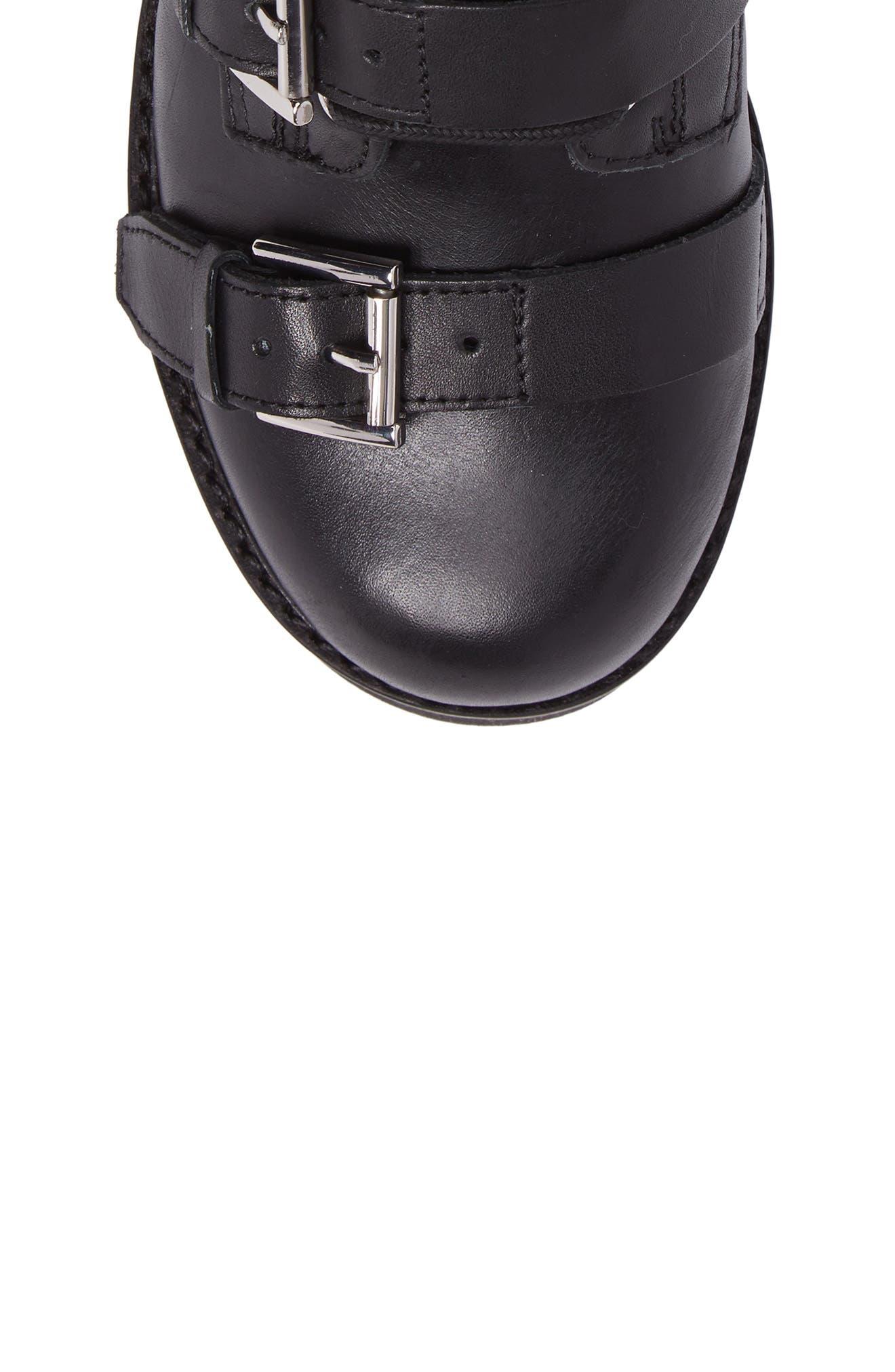 Razor Bootie,                             Alternate thumbnail 5, color,                             Black Leather