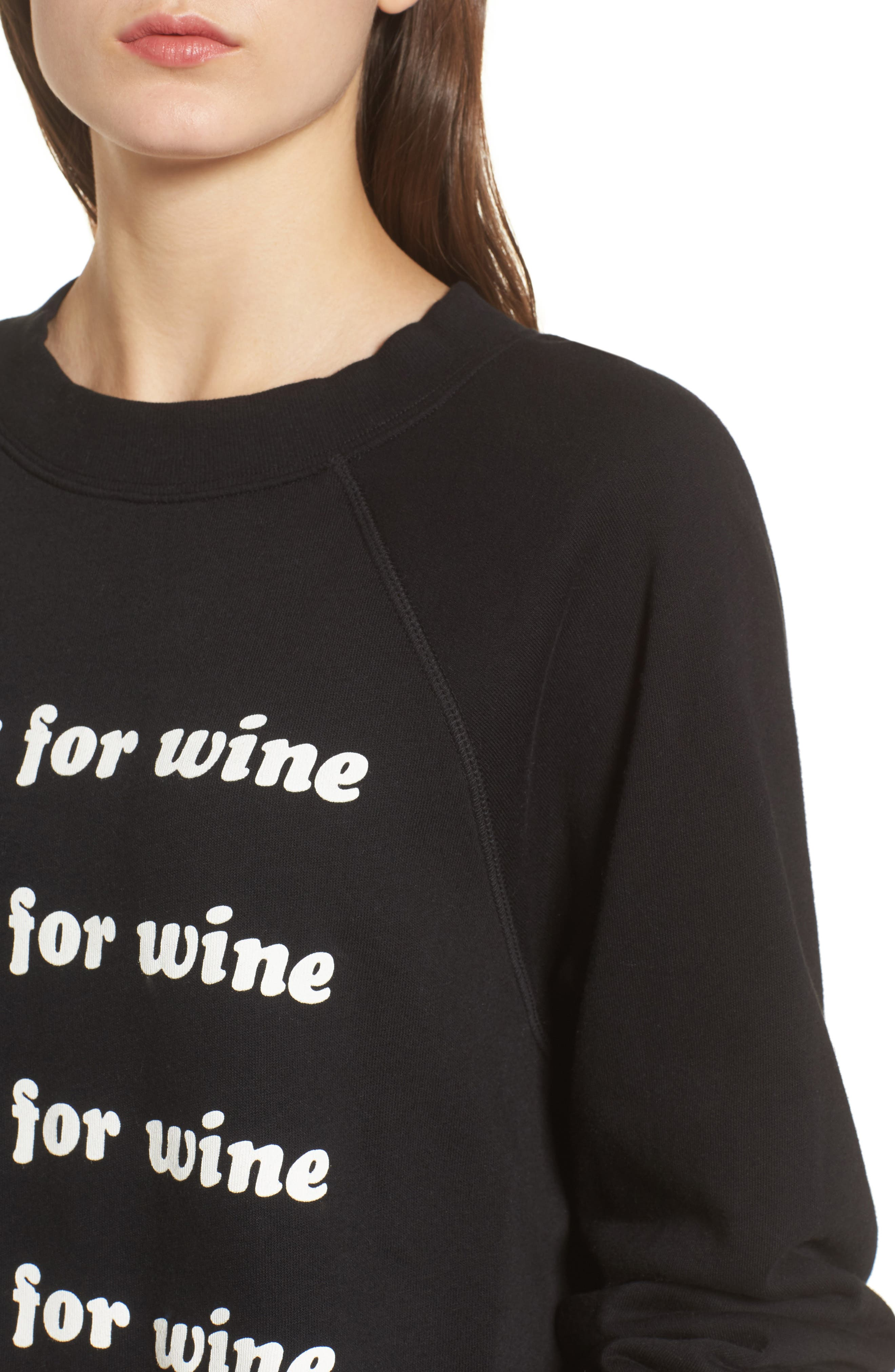 Wino - Sommers Sweatshirt,                             Alternate thumbnail 4, color,                             Black