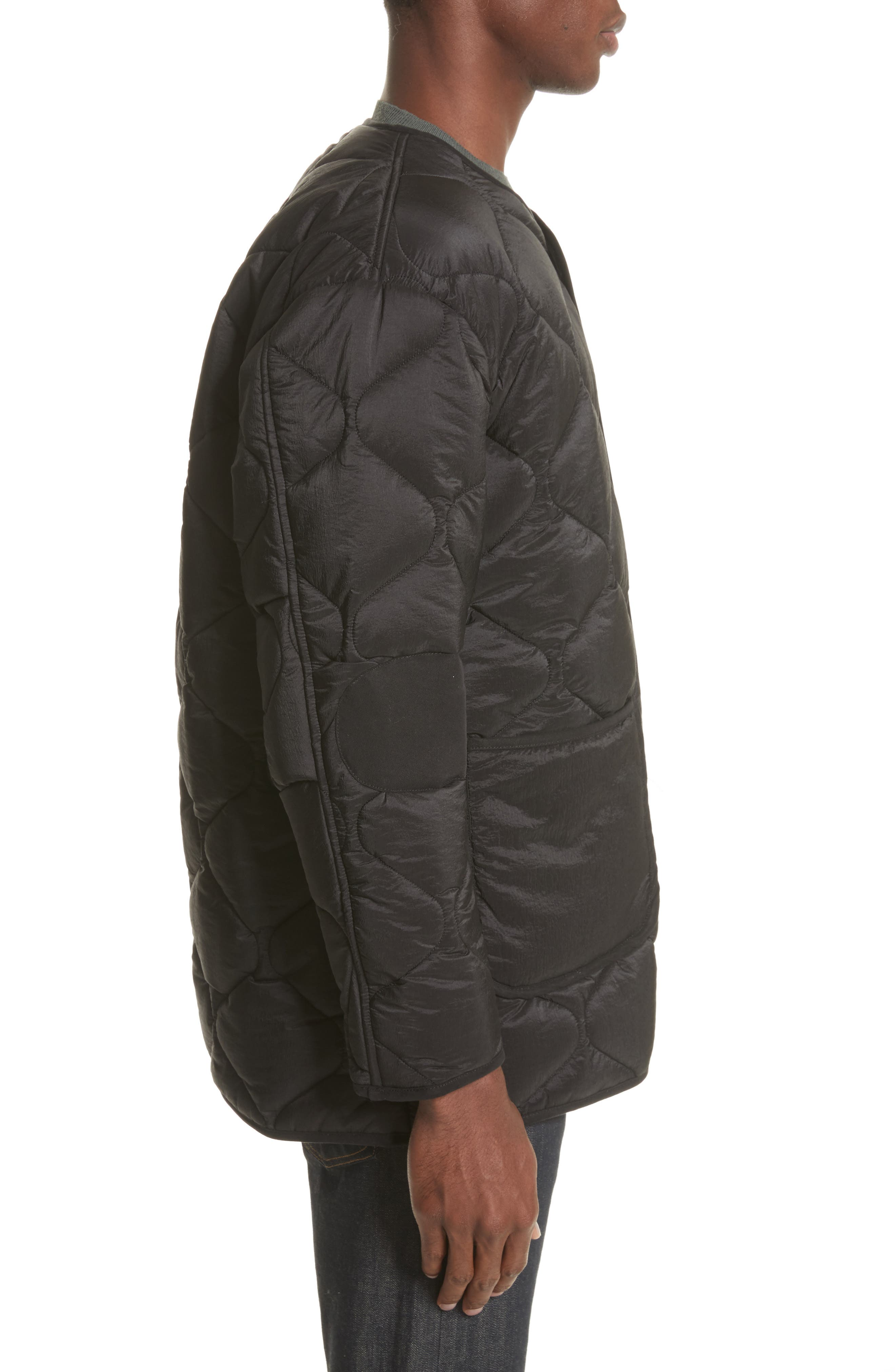 Quilted Liner Parachute Jacket,                             Alternate thumbnail 3, color,                             Black