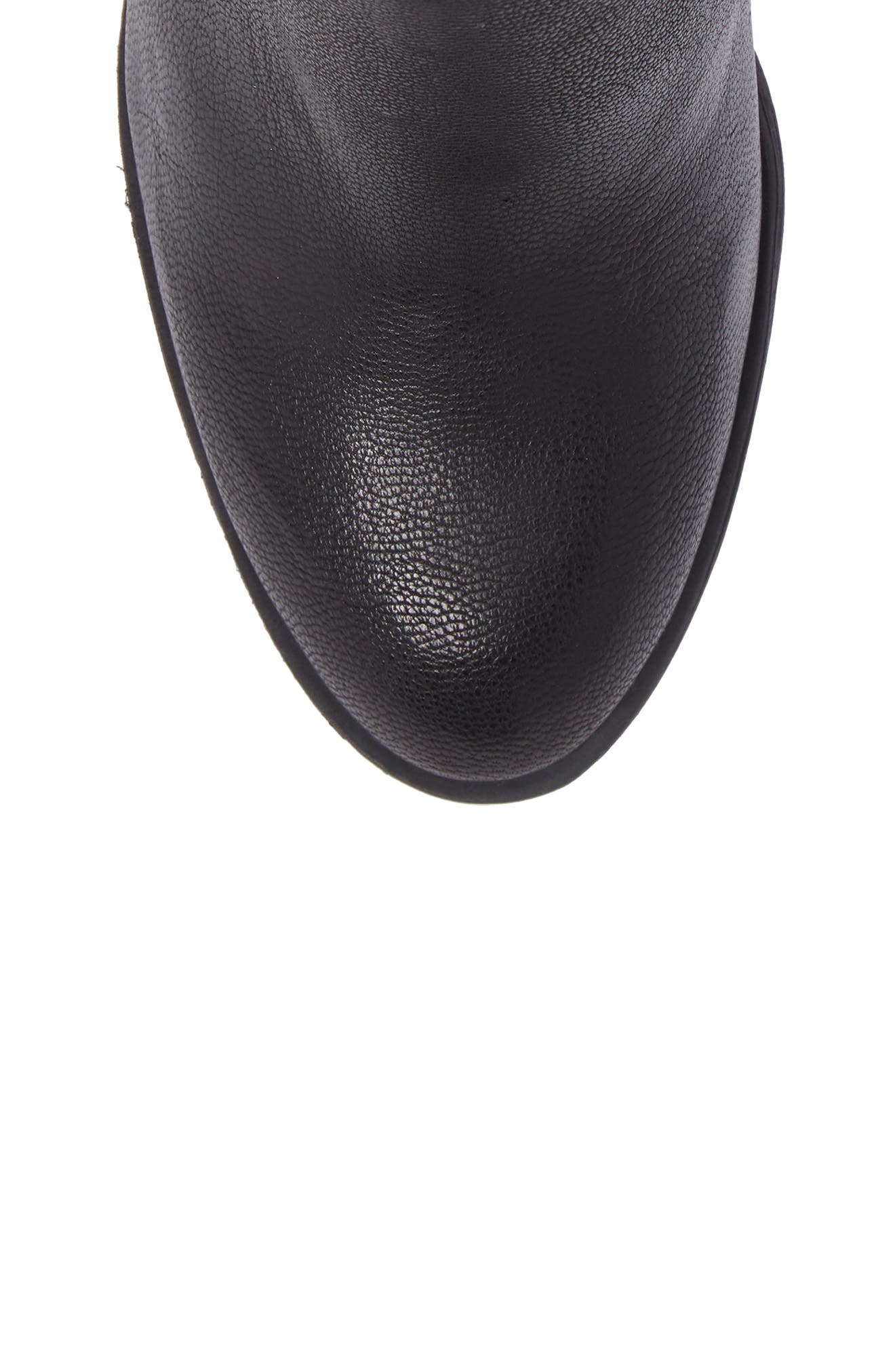 Sassa Bootie,                             Alternate thumbnail 5, color,                             Black Leather
