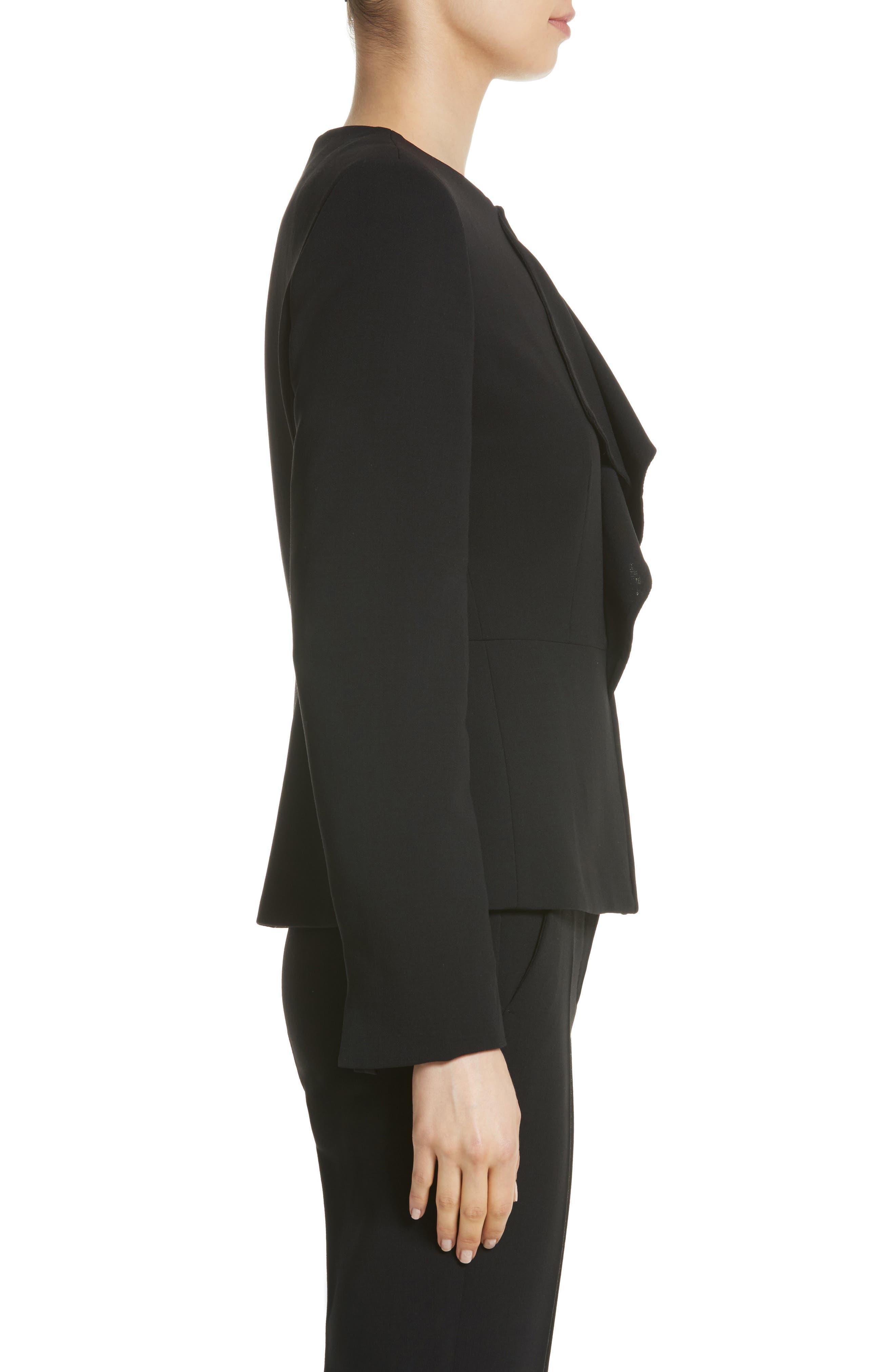 Alternate Image 3  - Max Mara Giralda Stretch Wool Ruffle Jacket
