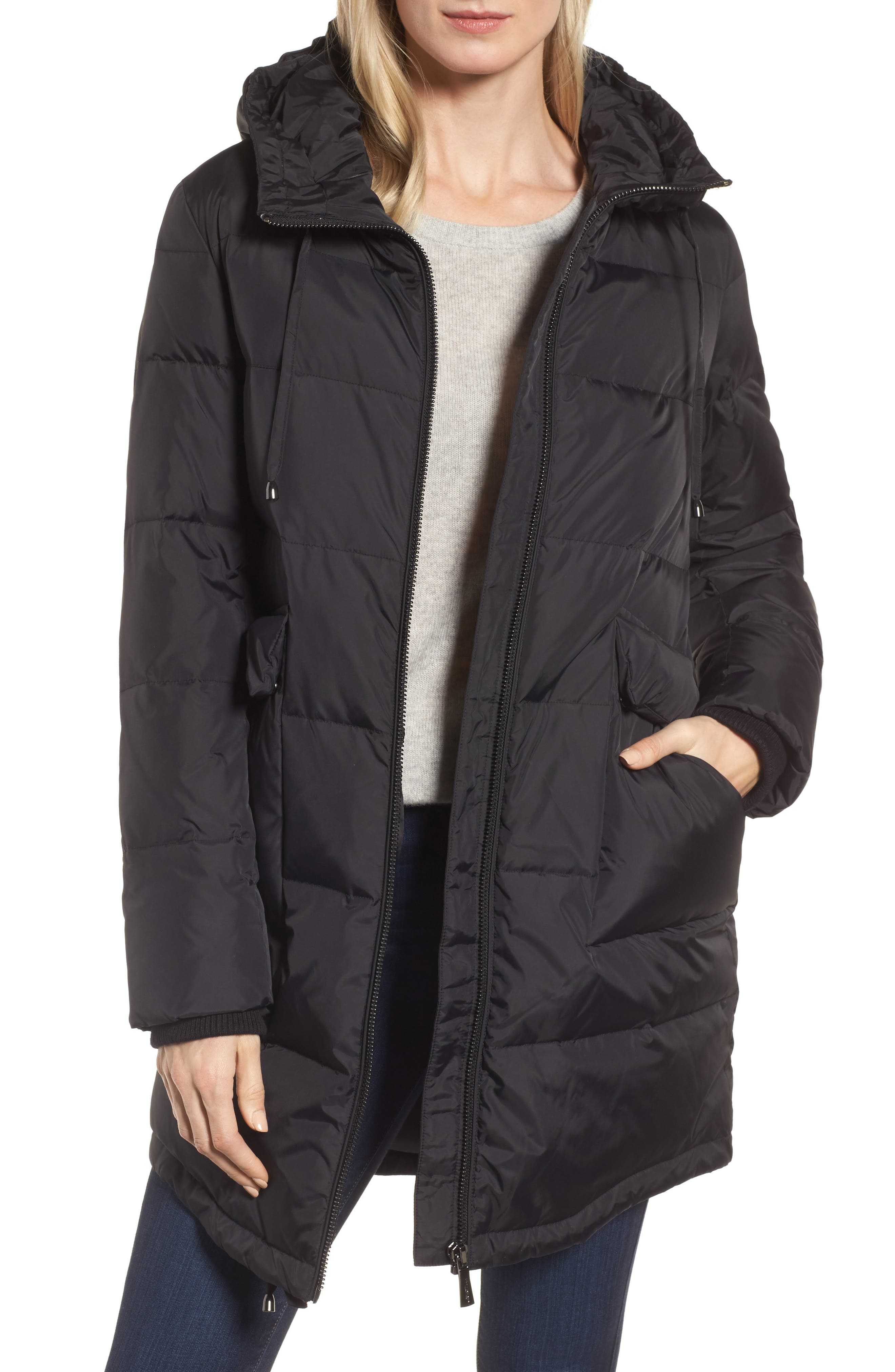 DKNY Water Resistant Insulated Puffer Coat