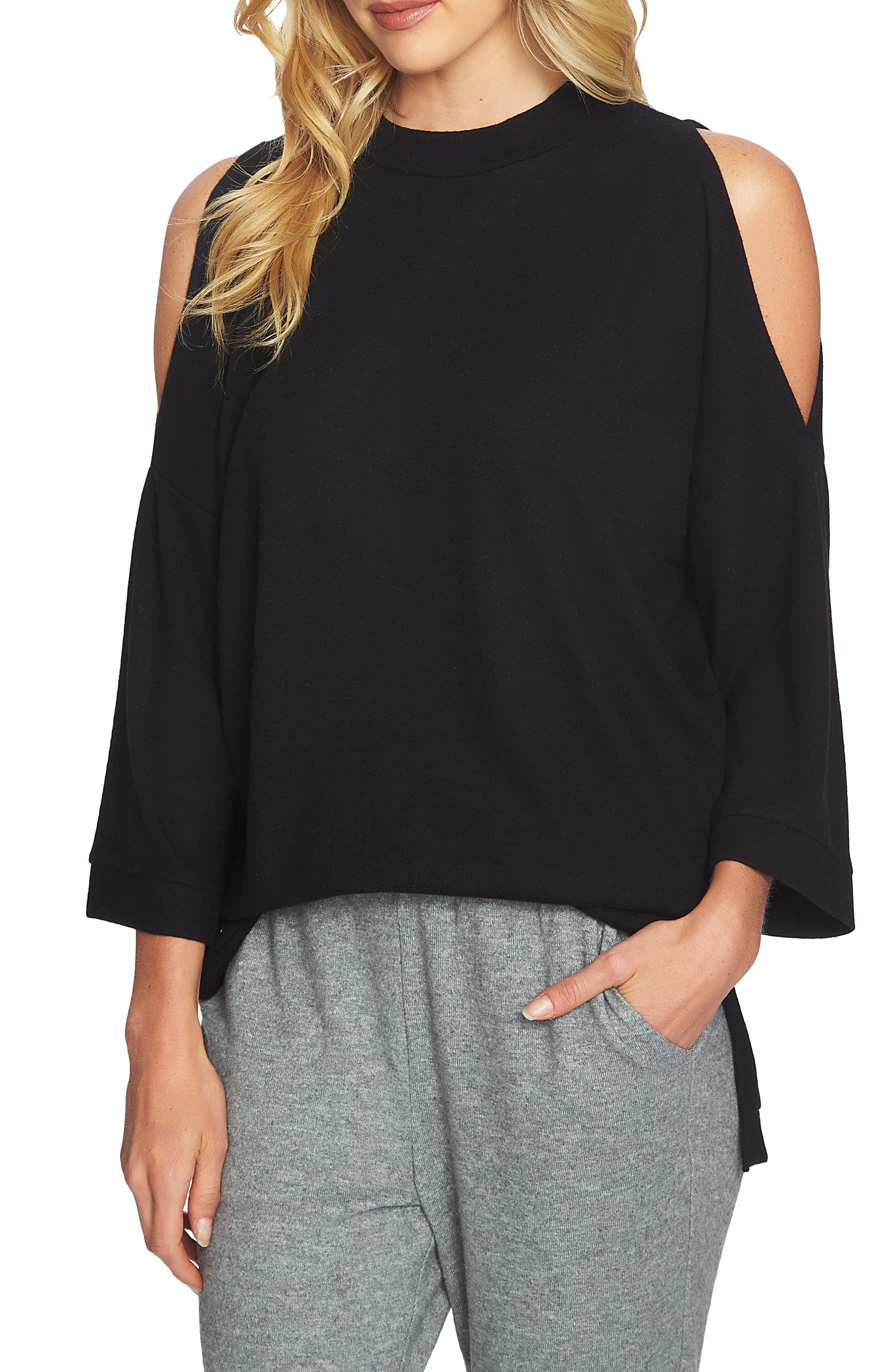 1.STATE The Cozy Cold Shoulder Top