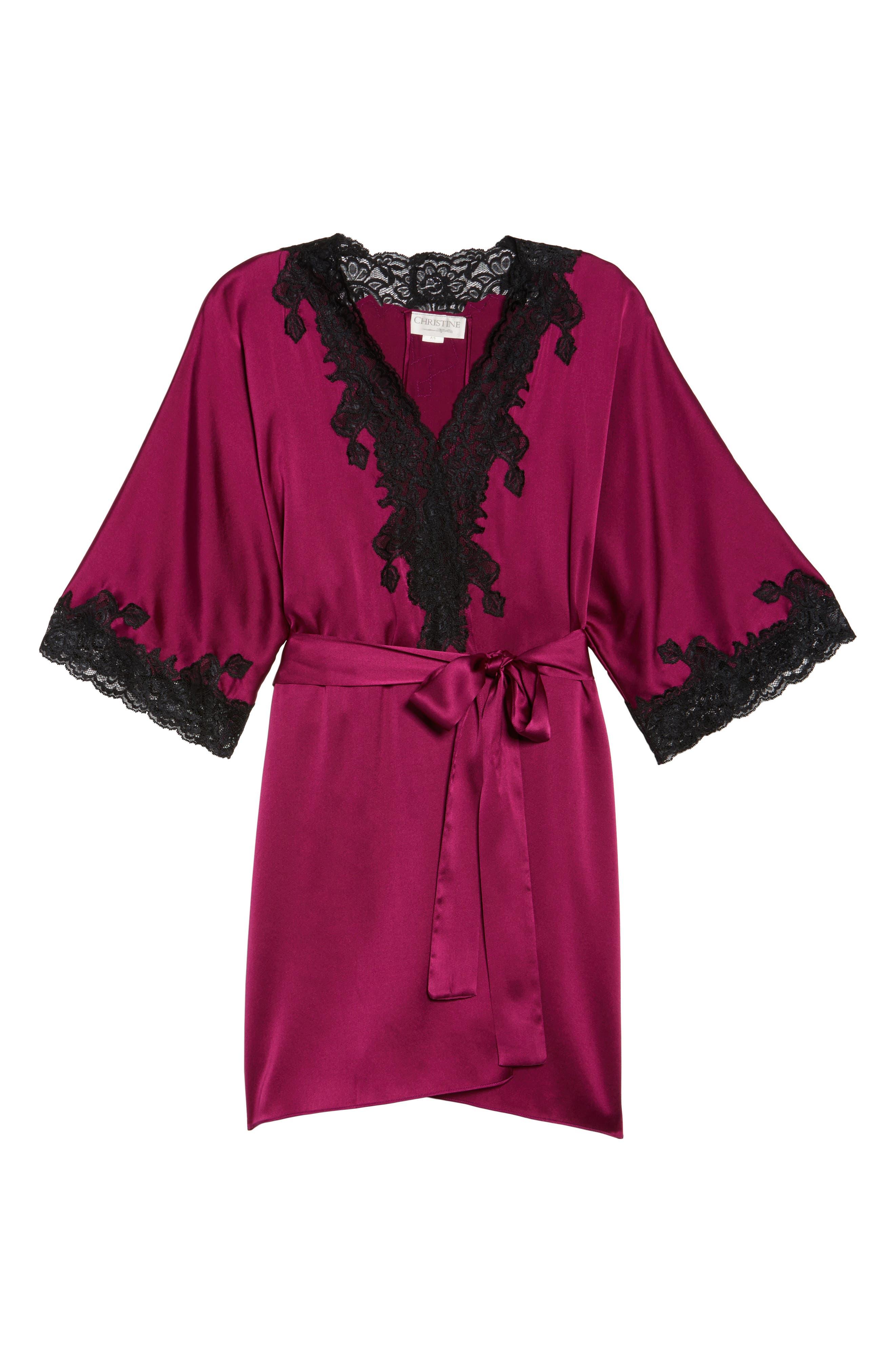 Christine Lingerie Stretch Silk Robe