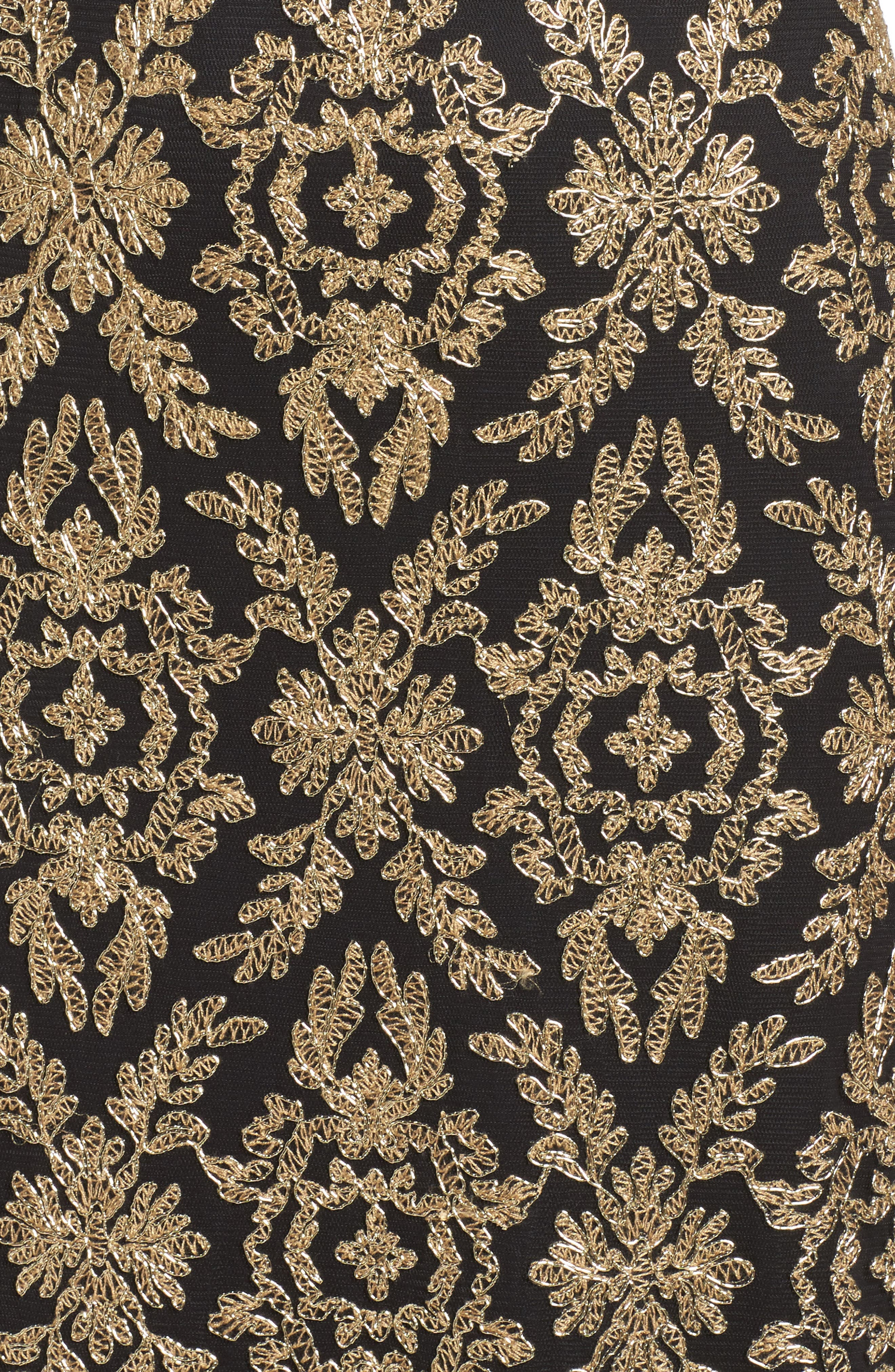 Alternate Image 5  - Tadashi Shoji Embroidered Lace Gown