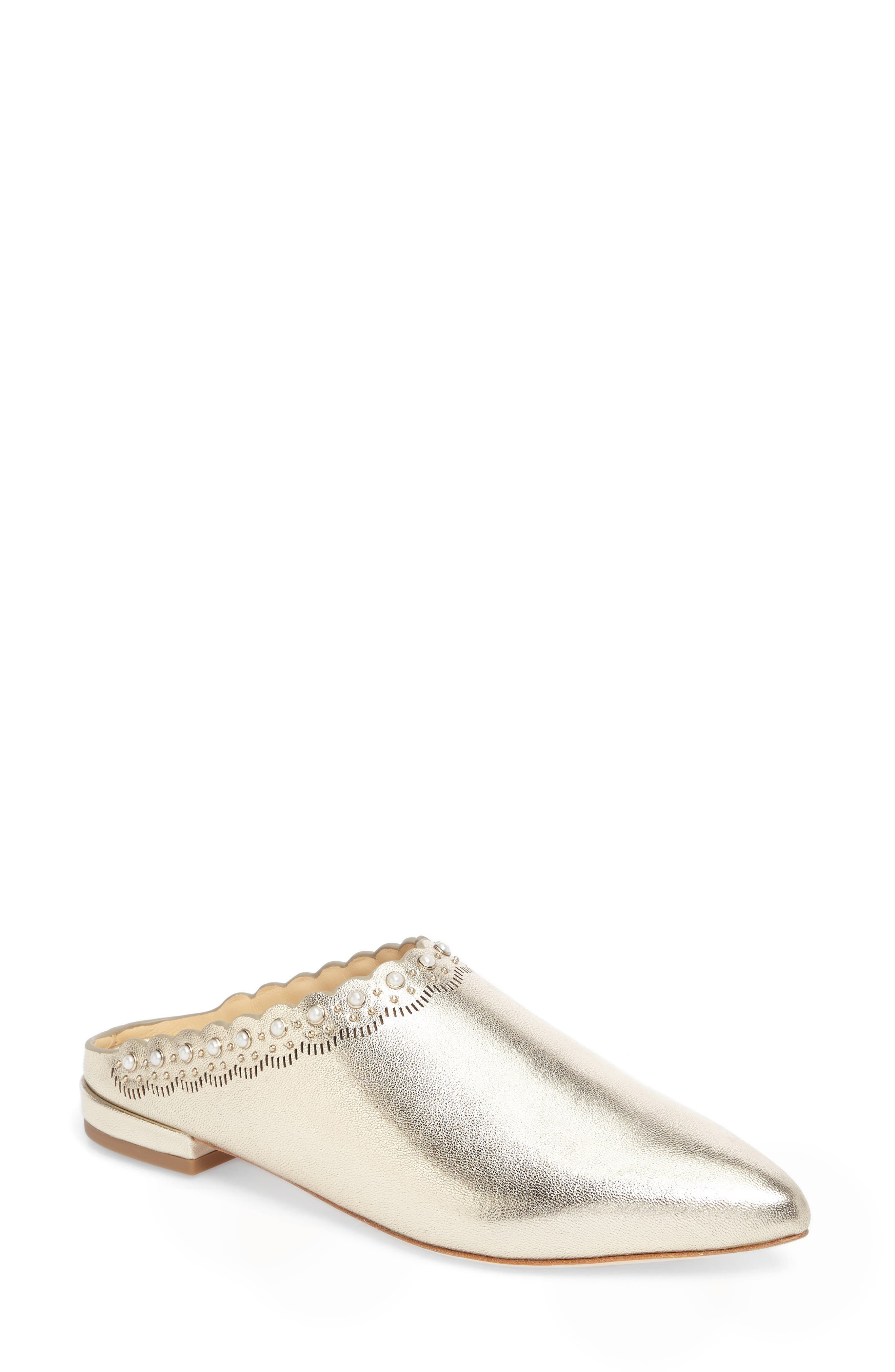 Giselle Mule,                             Main thumbnail 1, color,                             Champagne Leather