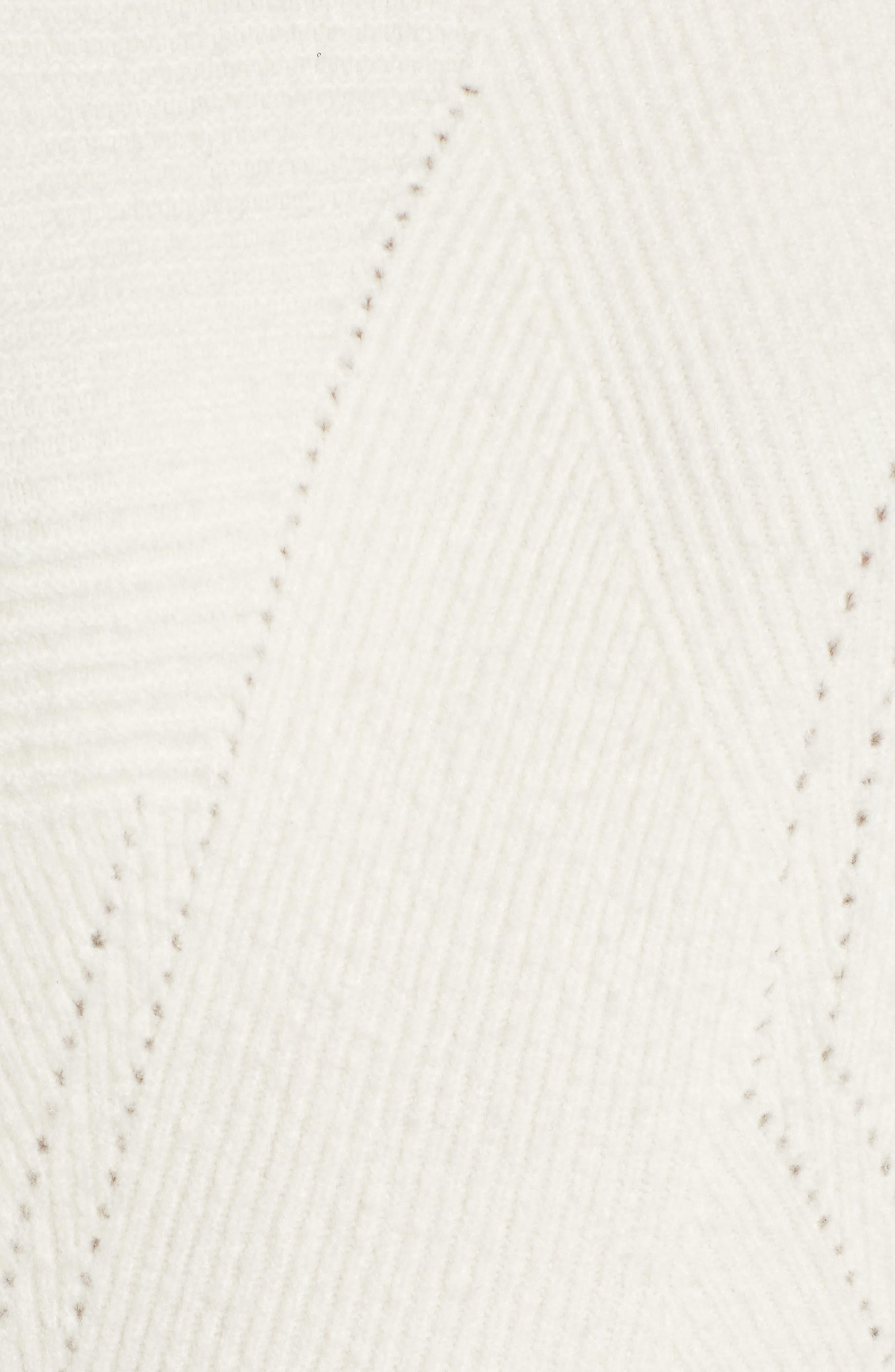 Funnel Neck Sweater,                             Alternate thumbnail 6, color,                             Ivory Vanilla