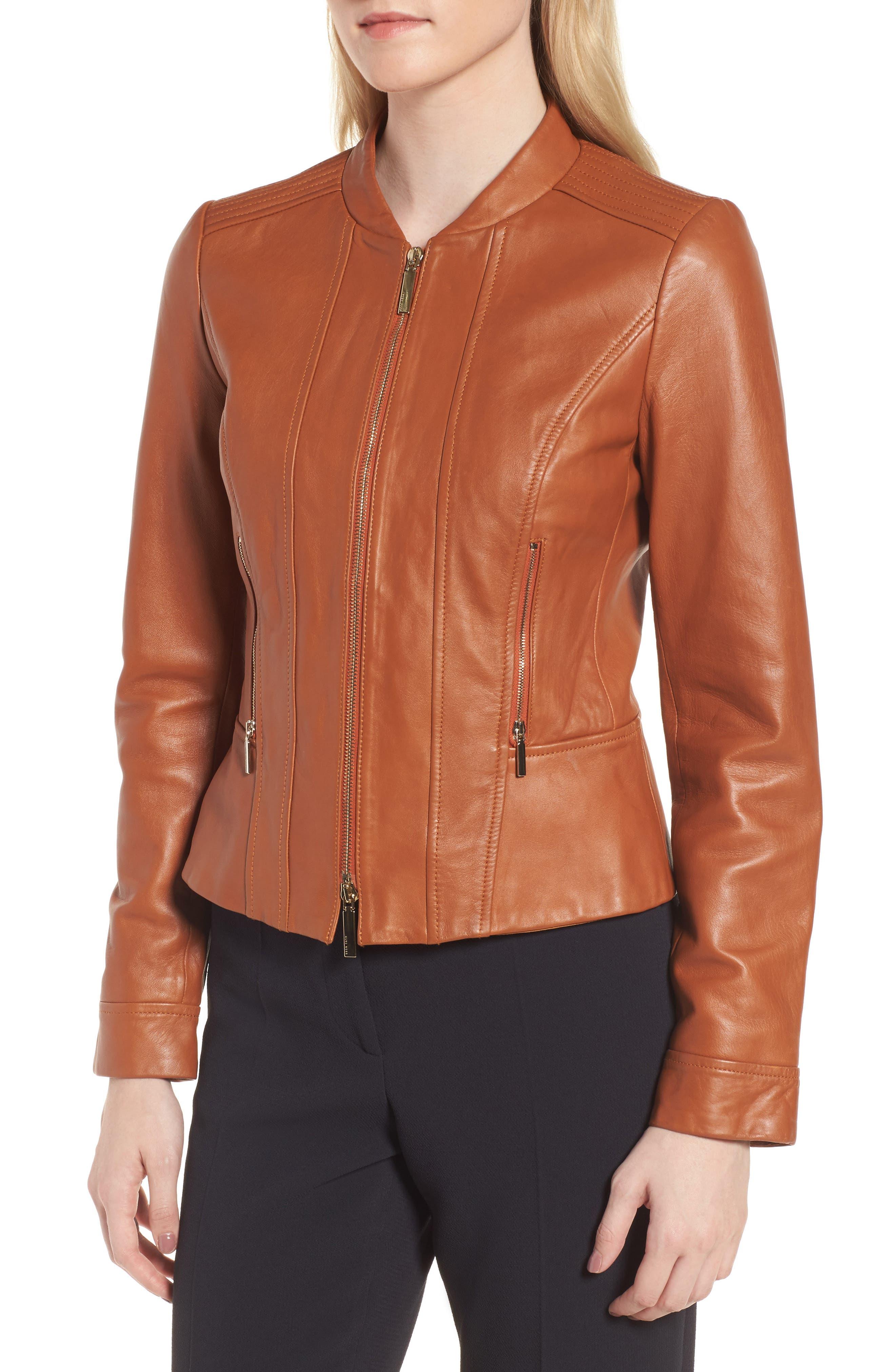 Alternate Image 4  - BOSS Sabiza Leather Jacket