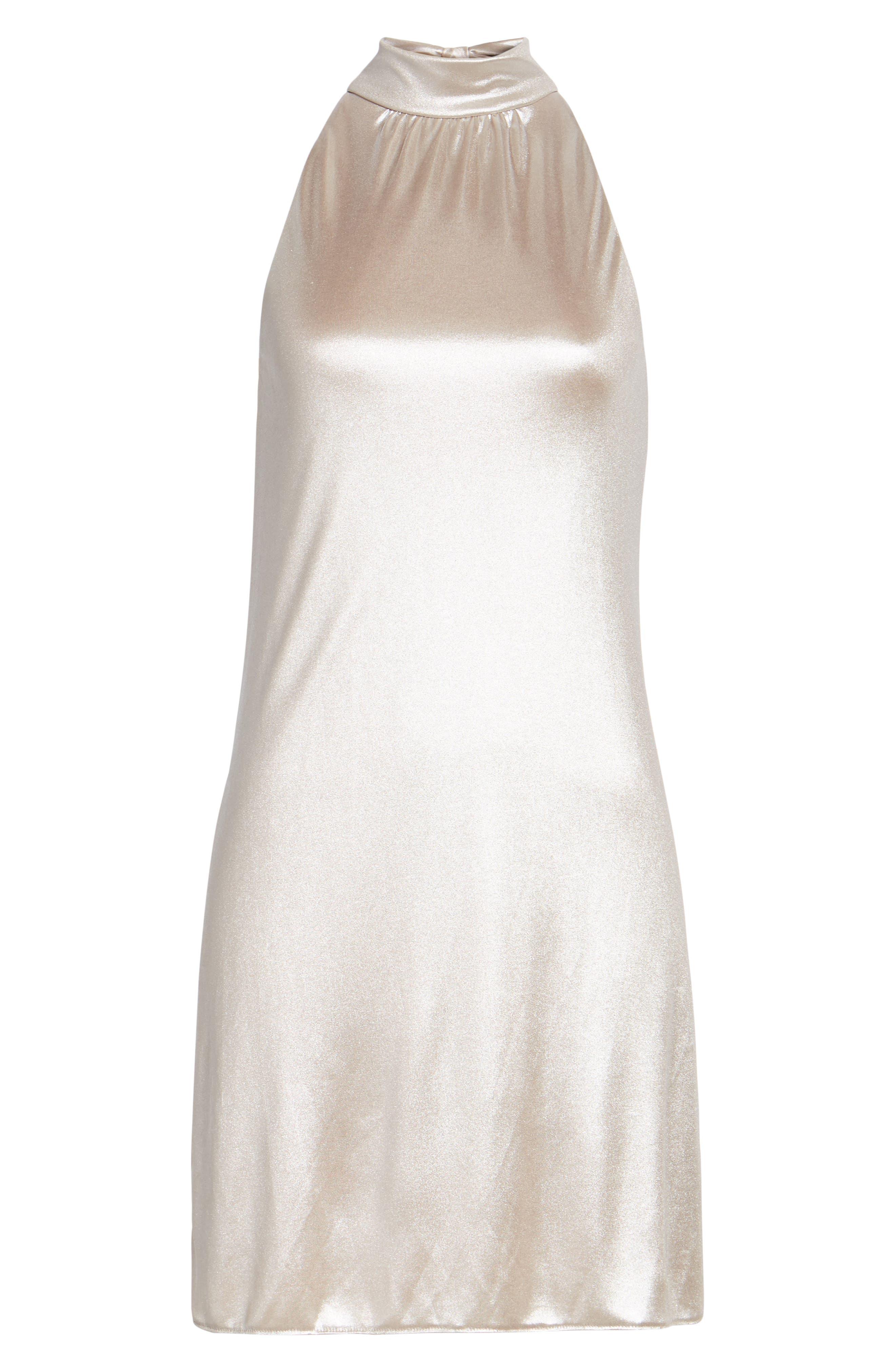 Director's Cut Dress,                             Alternate thumbnail 6, color,                             Rose Gold