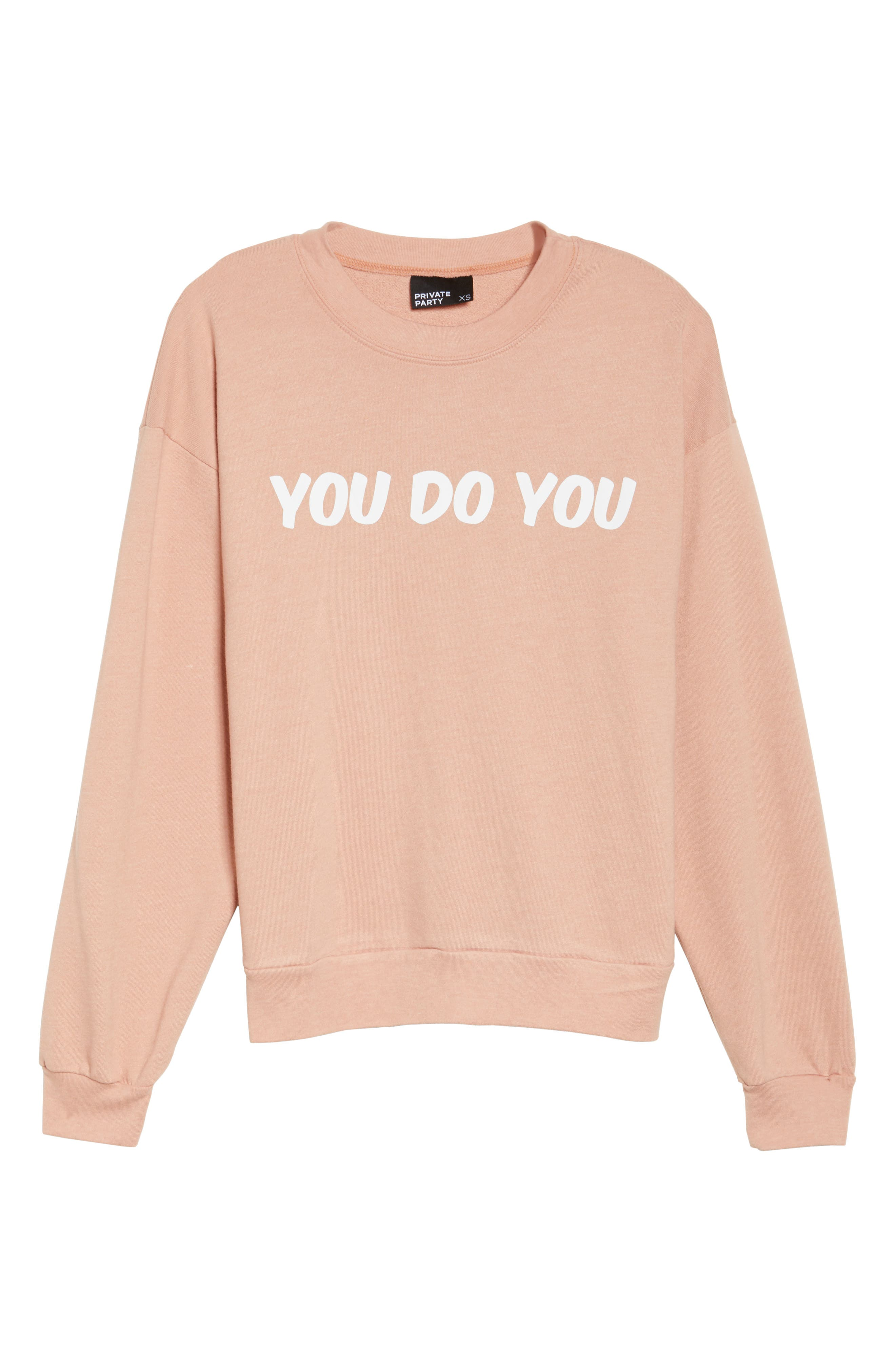 You Do You Sweatshirt,                             Alternate thumbnail 7, color,                             Rose