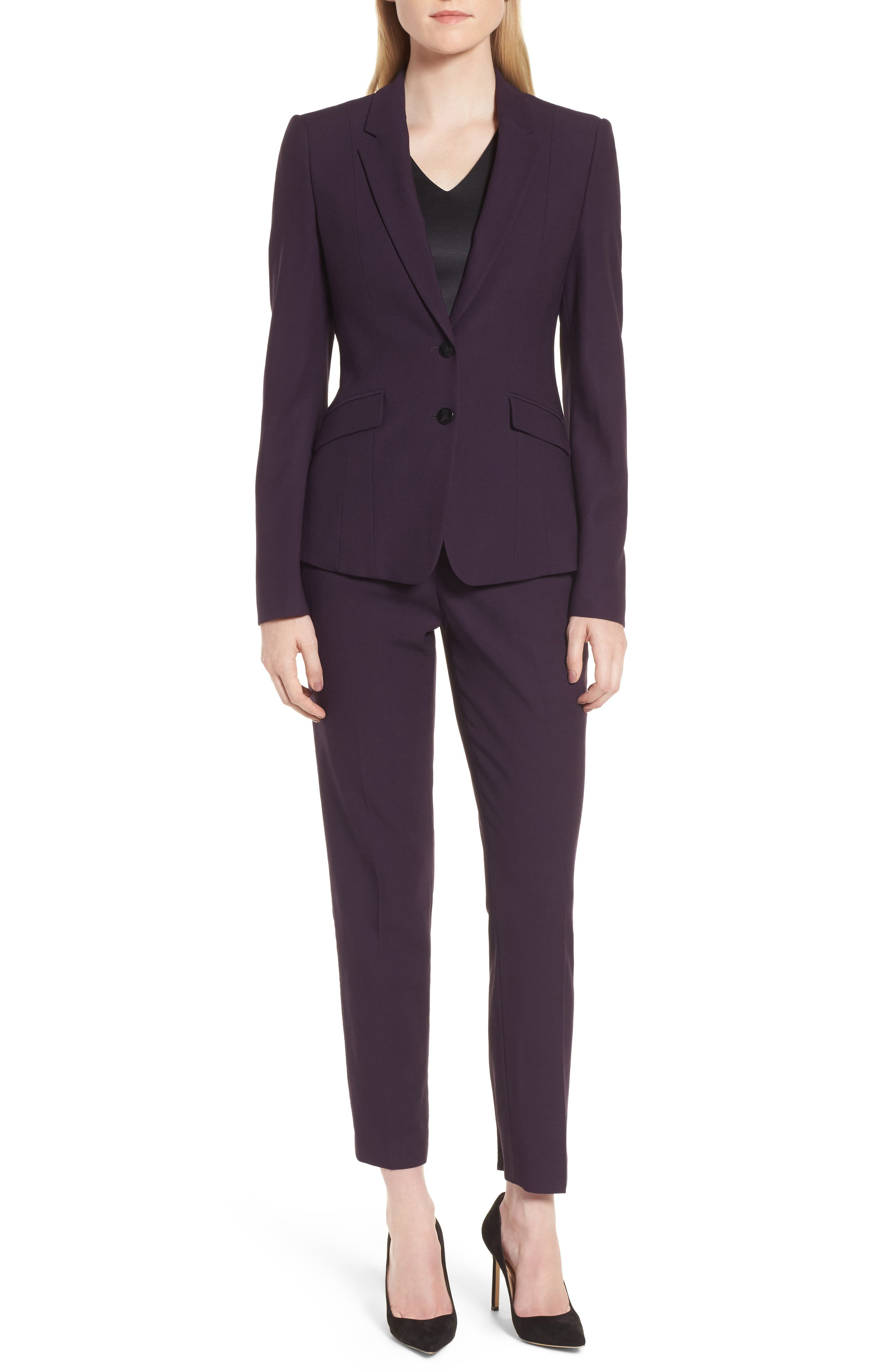 Alternate Image 7  - BOSS Tiluna Straight Leg Wool Suit Pants