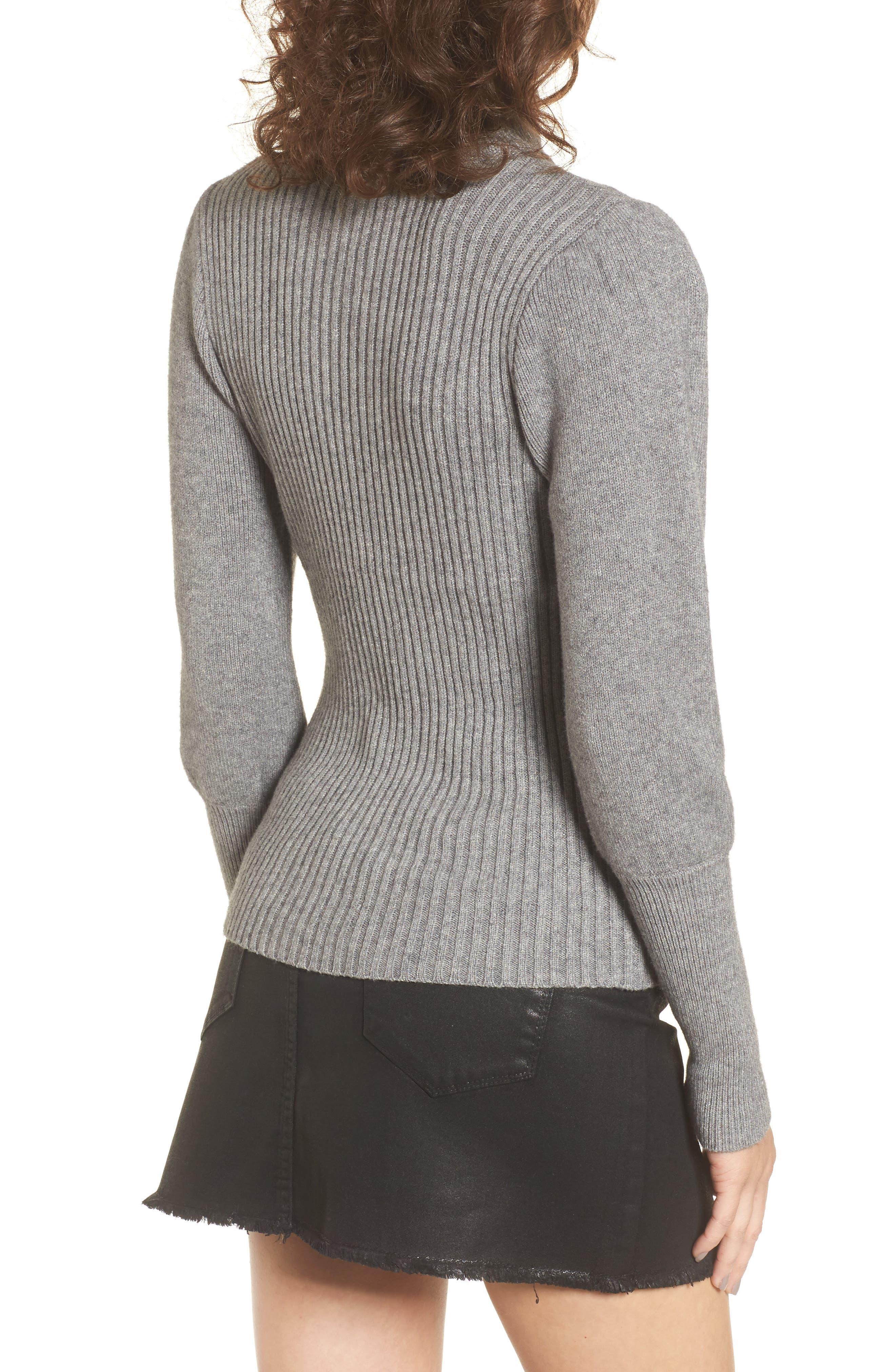 Alternate Image 2  - MOON RIVER Puff Sleeve Sweater
