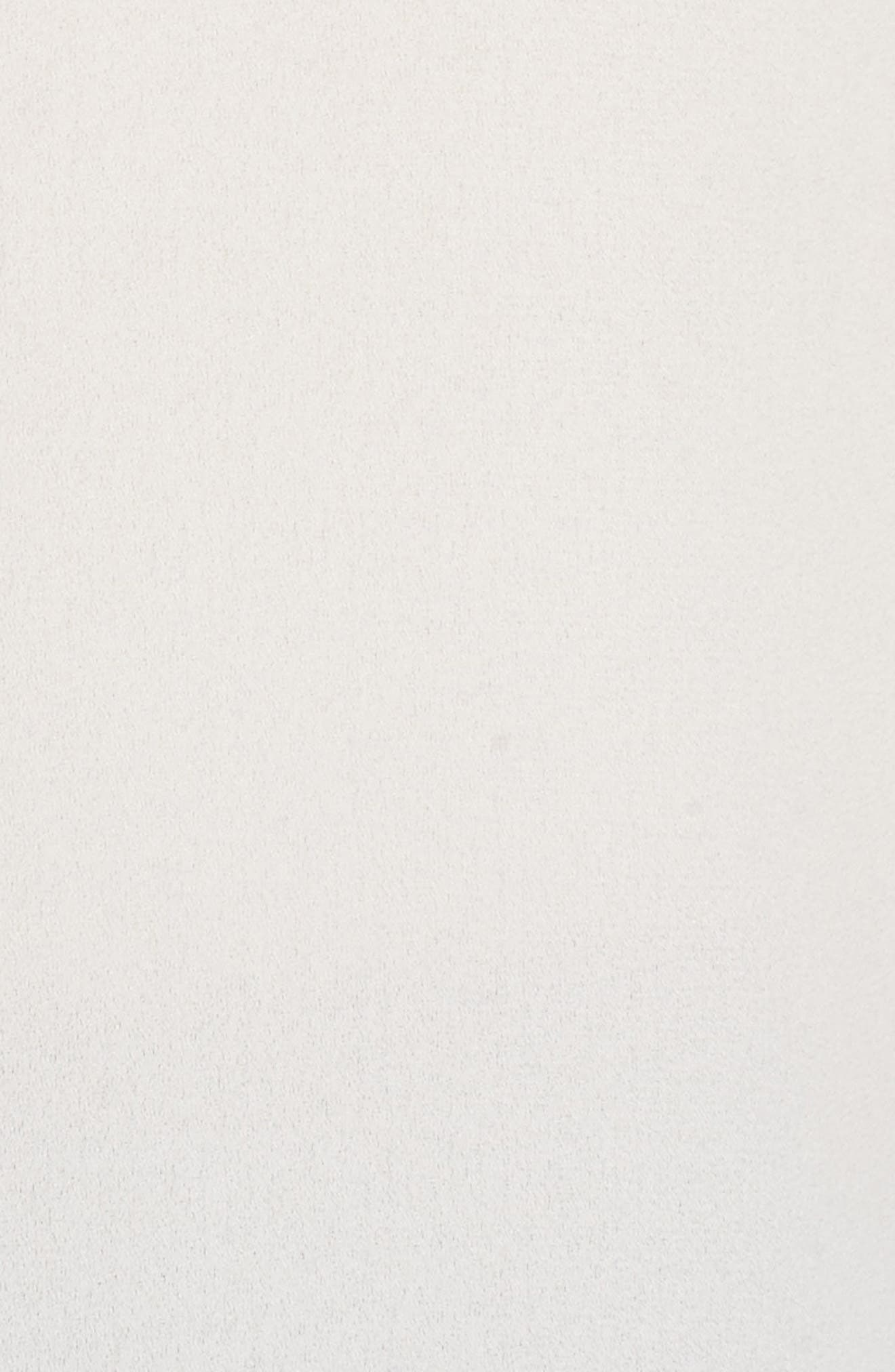 Ruffle Choker Tank,                             Alternate thumbnail 5, color,                             White Snow