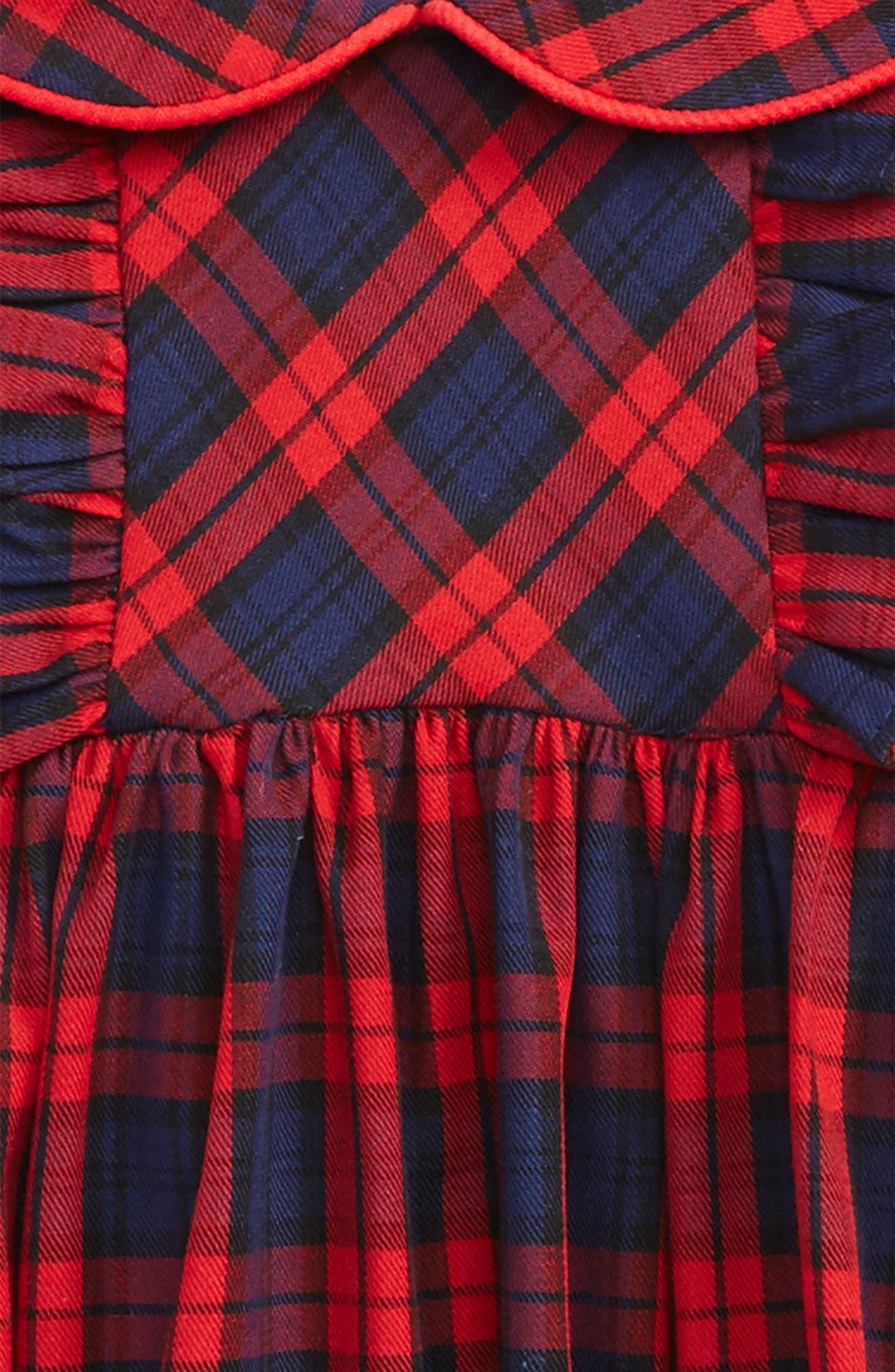 Plaid Dress,                             Alternate thumbnail 2, color,                             Red