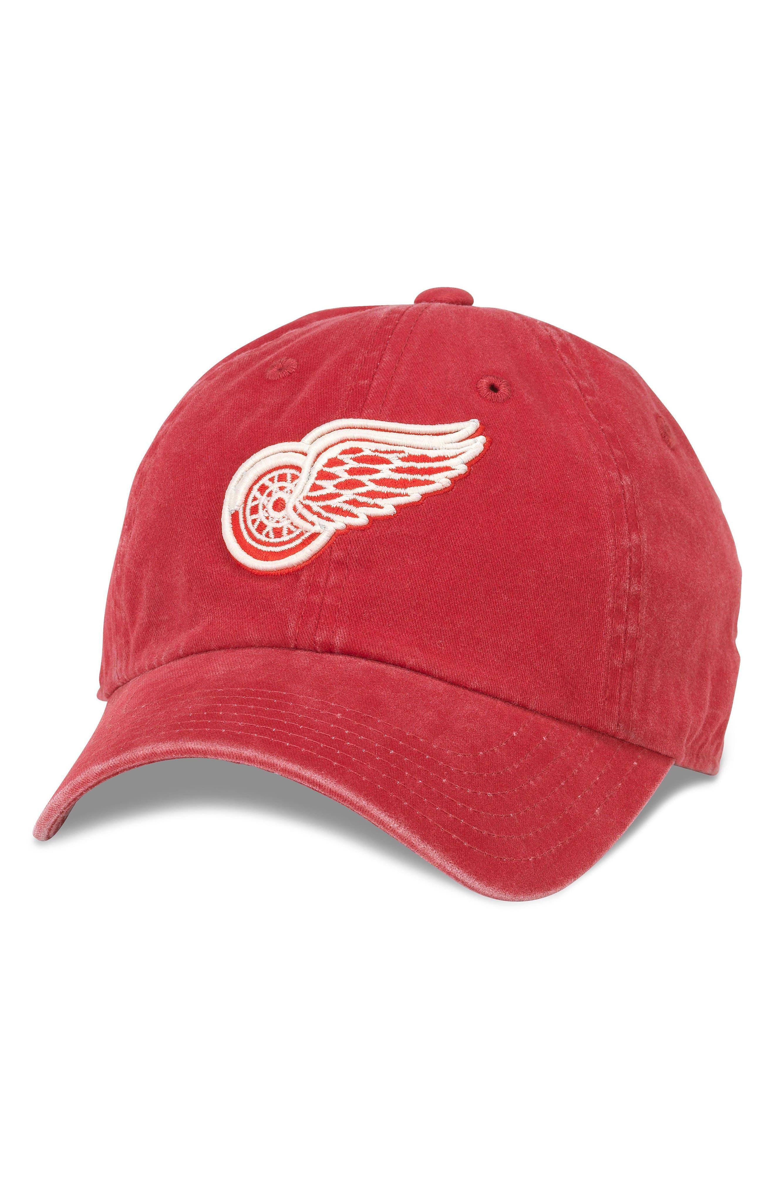 New Raglan NHL Cap,                         Main,                         color, Red Wings/ Red