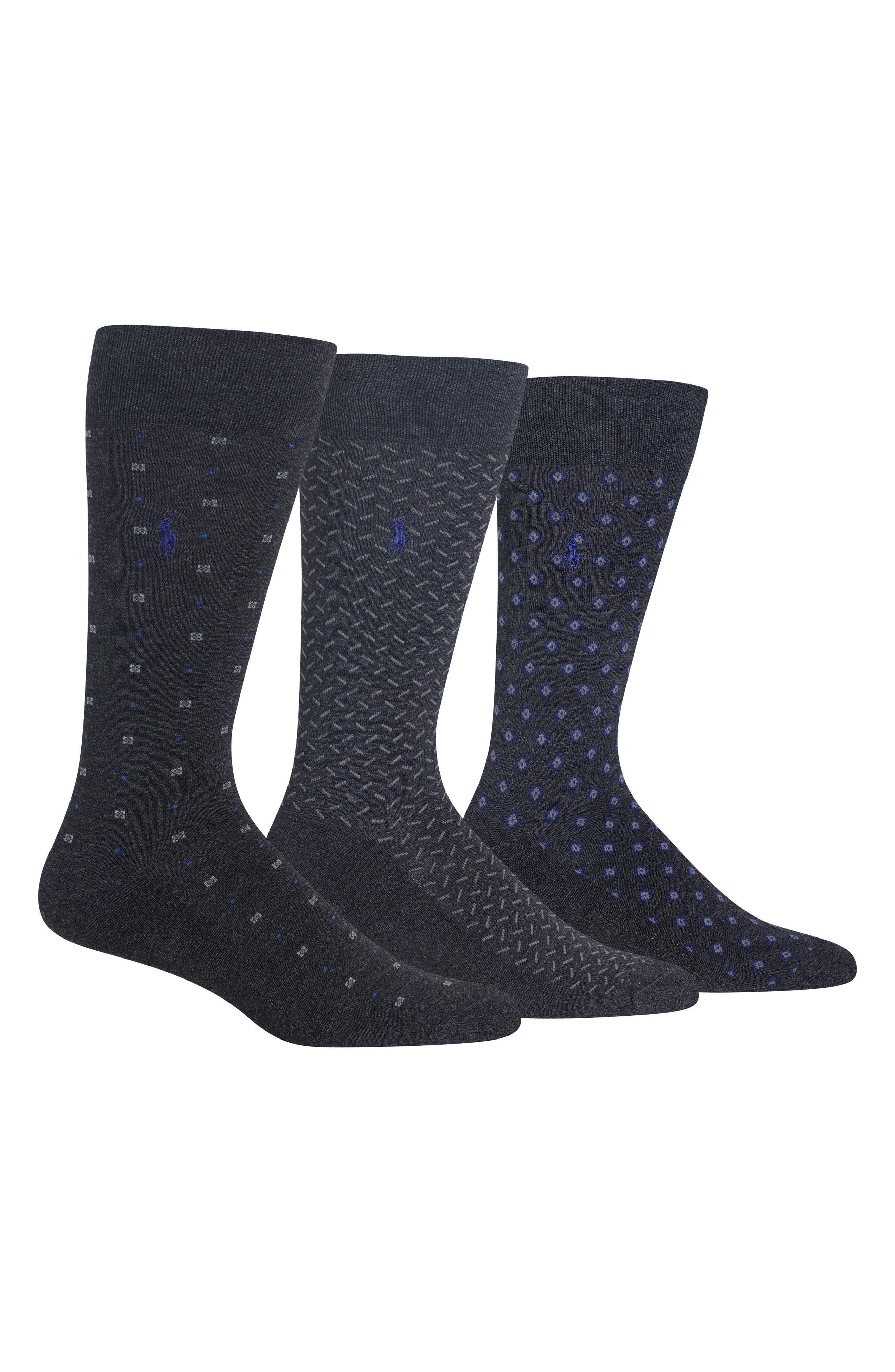 Alternate Image 1 Selected - Polo Ralph Lauren 3-Pack Performance Socks