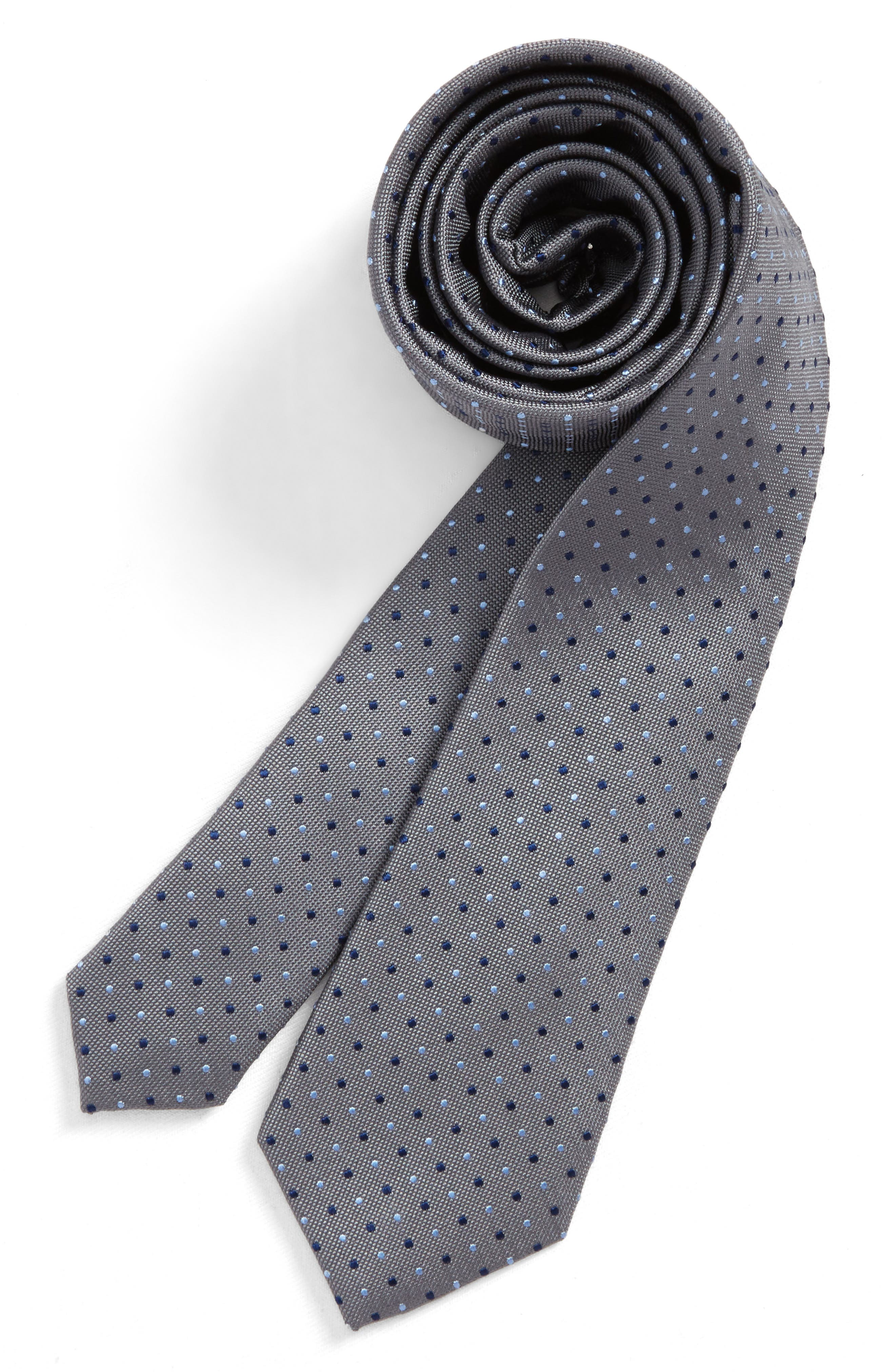 Nordstrom Dot Silk Tie (Boys)