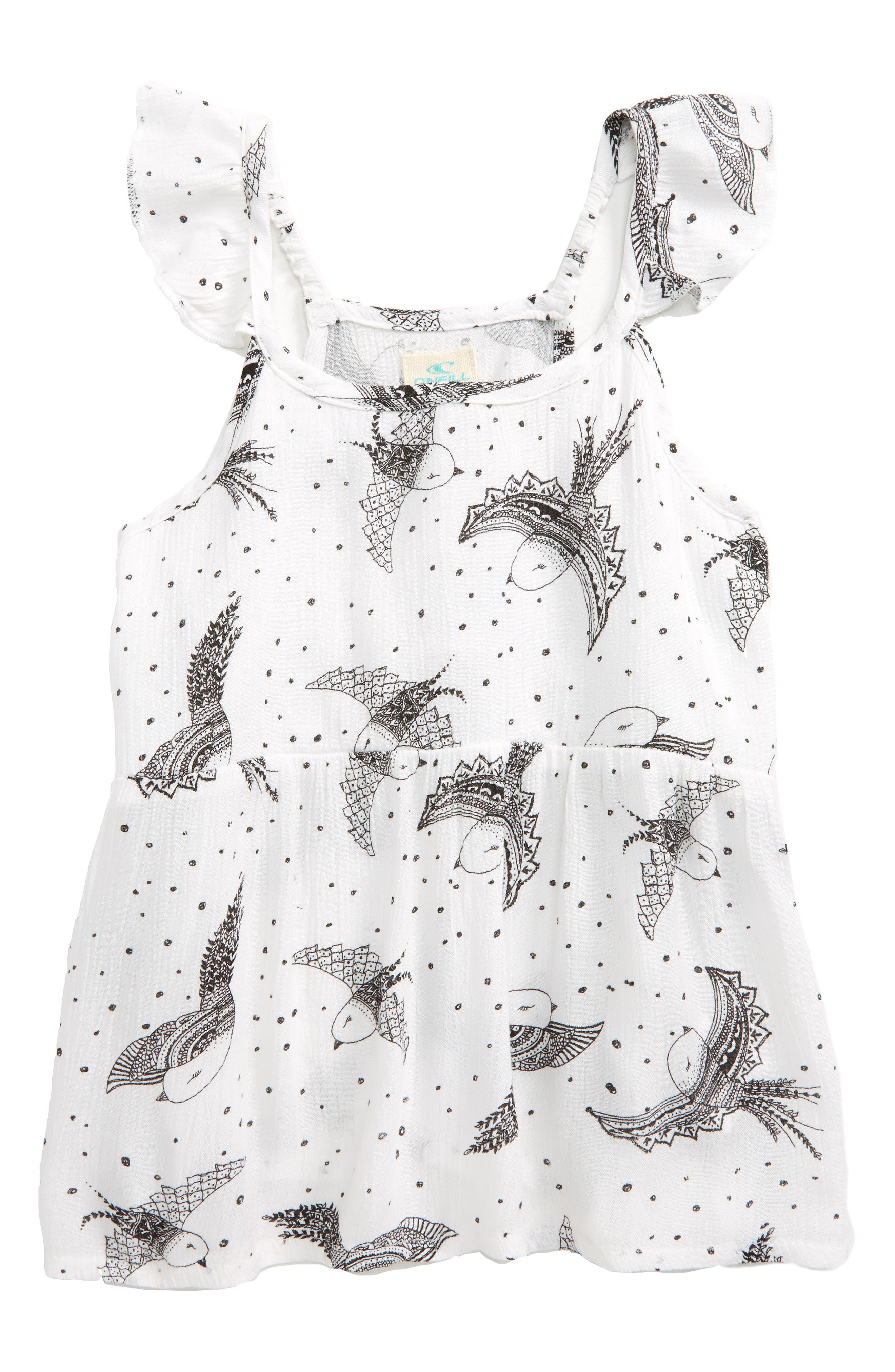 Alternate Image 1 Selected - O'Neill Flutter Sleeve Top (Toddler Girls & Little Girls)