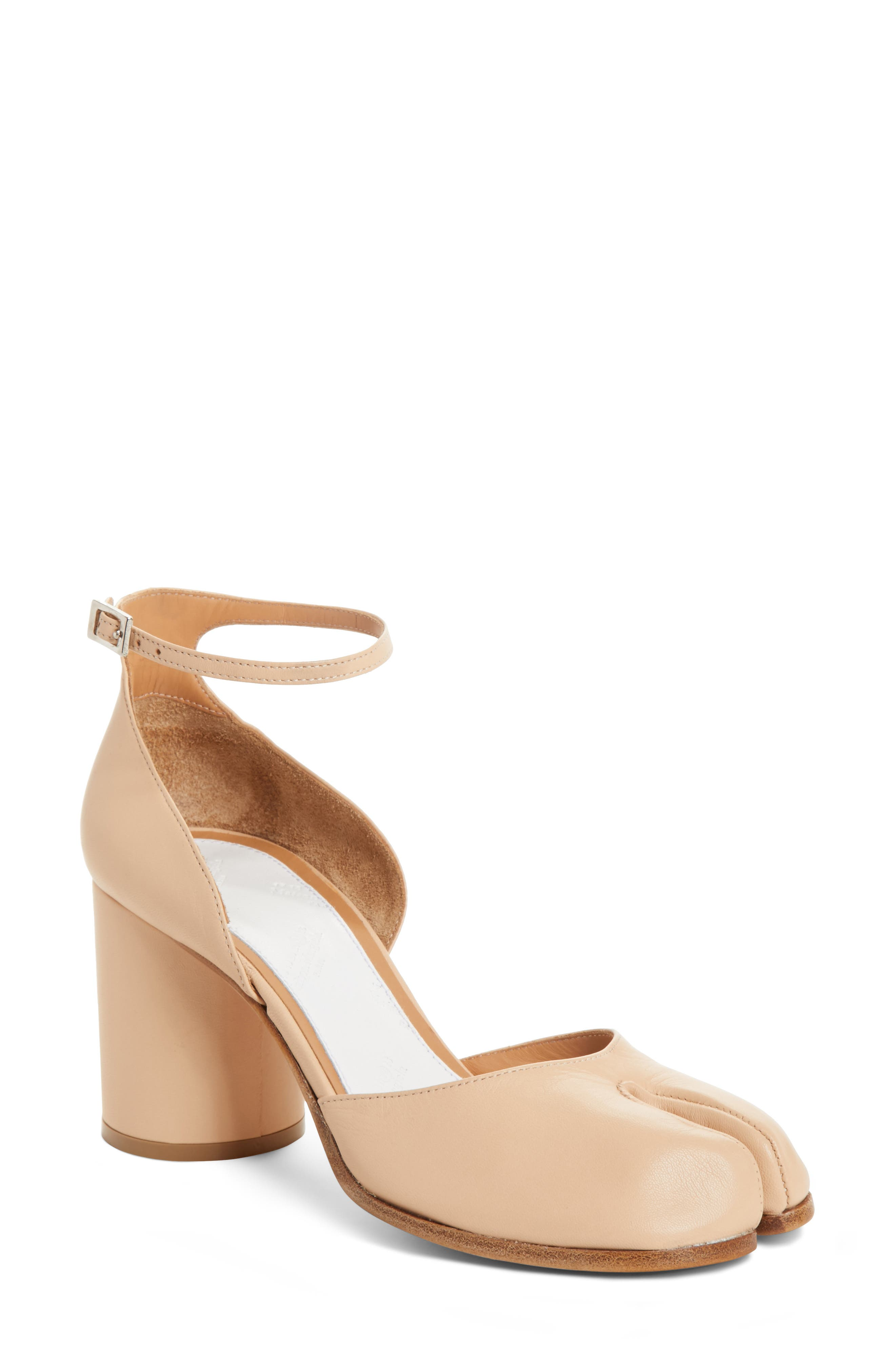 Tabi Ankle Strap Pump,                         Main,                         color, Ivory
