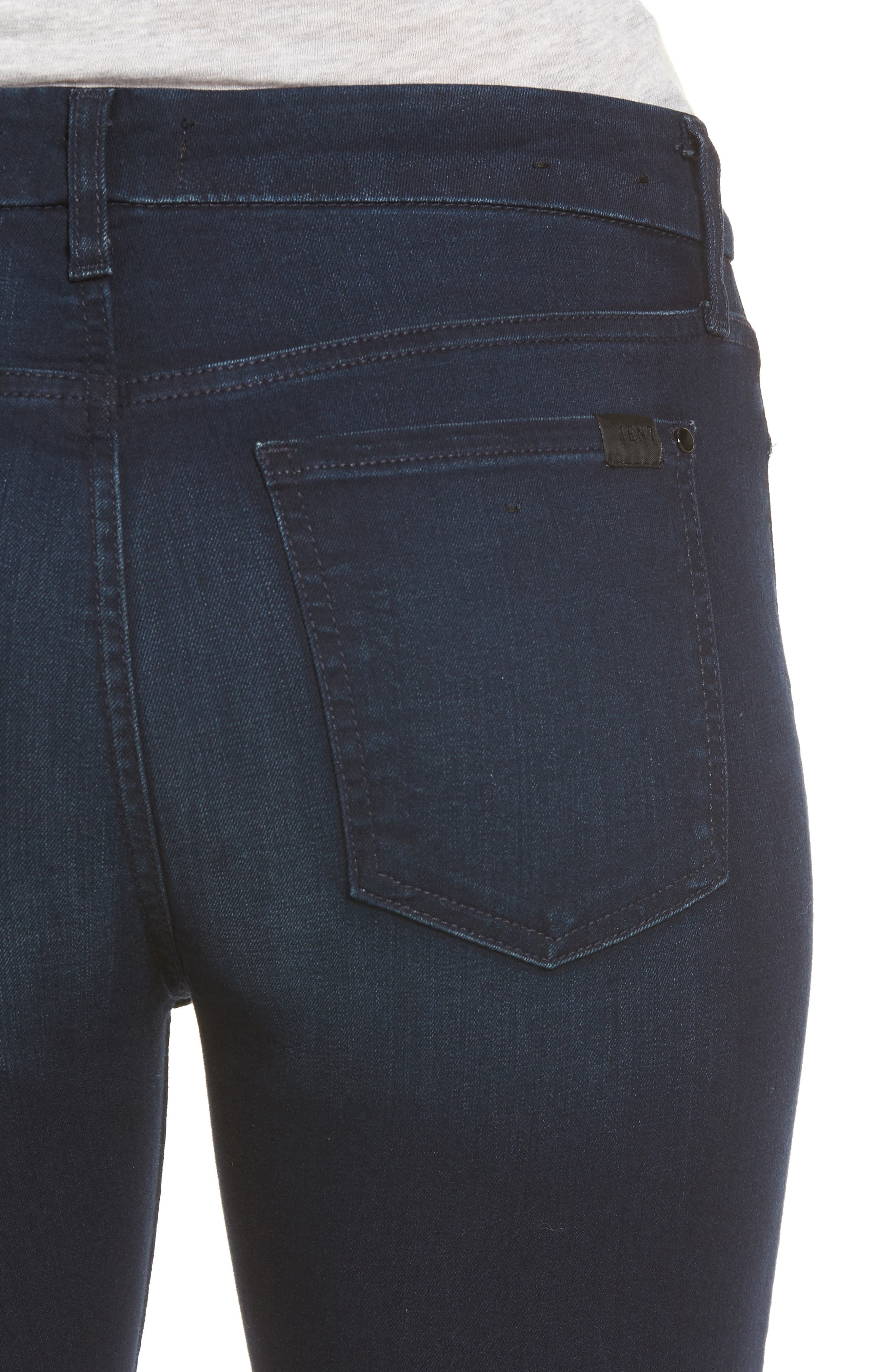 Slim Straight Jeans,                             Alternate thumbnail 4, color,                             Riche Touch Blue/ Black