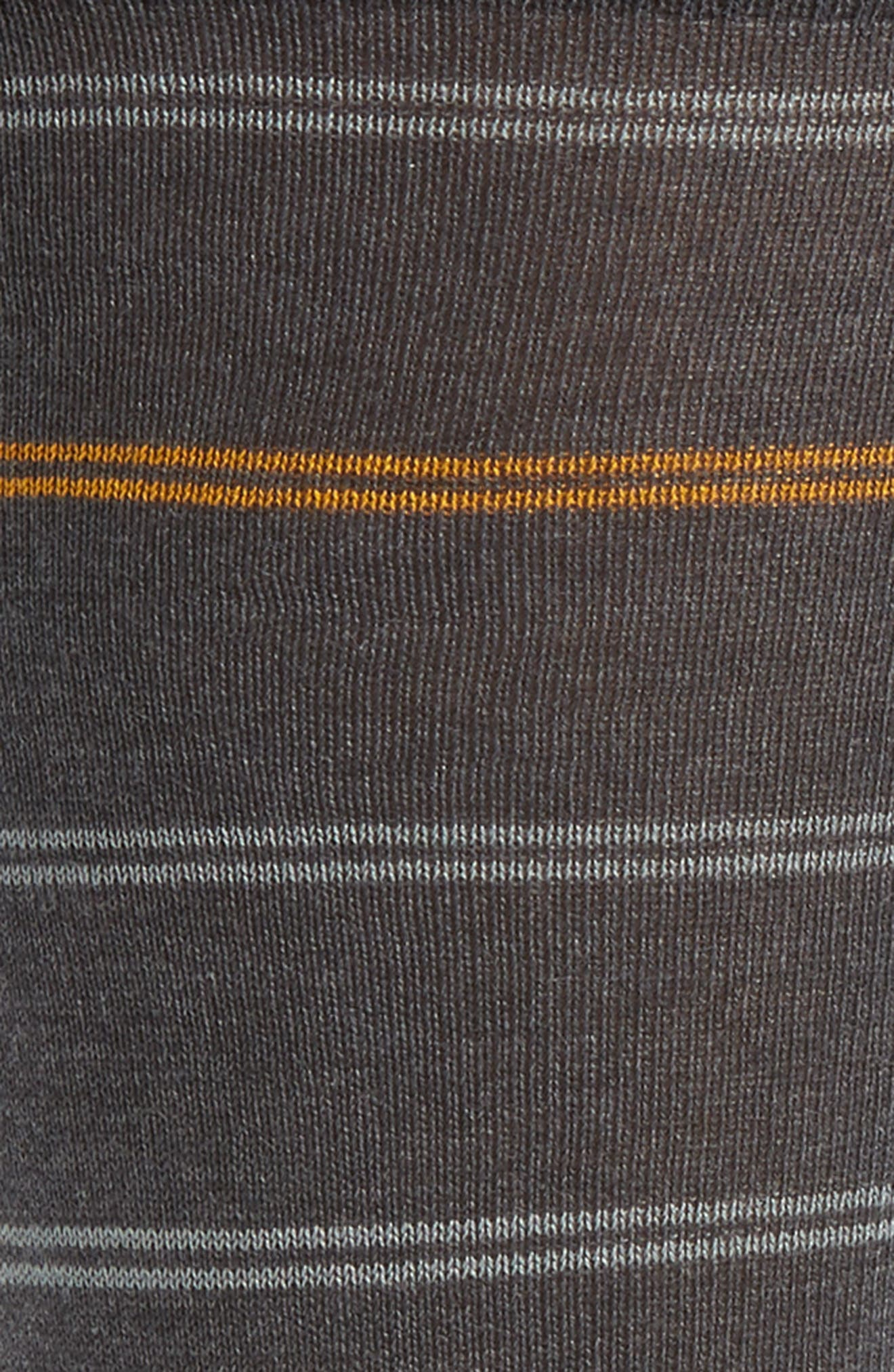 Stripe Socks,                             Alternate thumbnail 2, color,                             Charcoal/ Grey