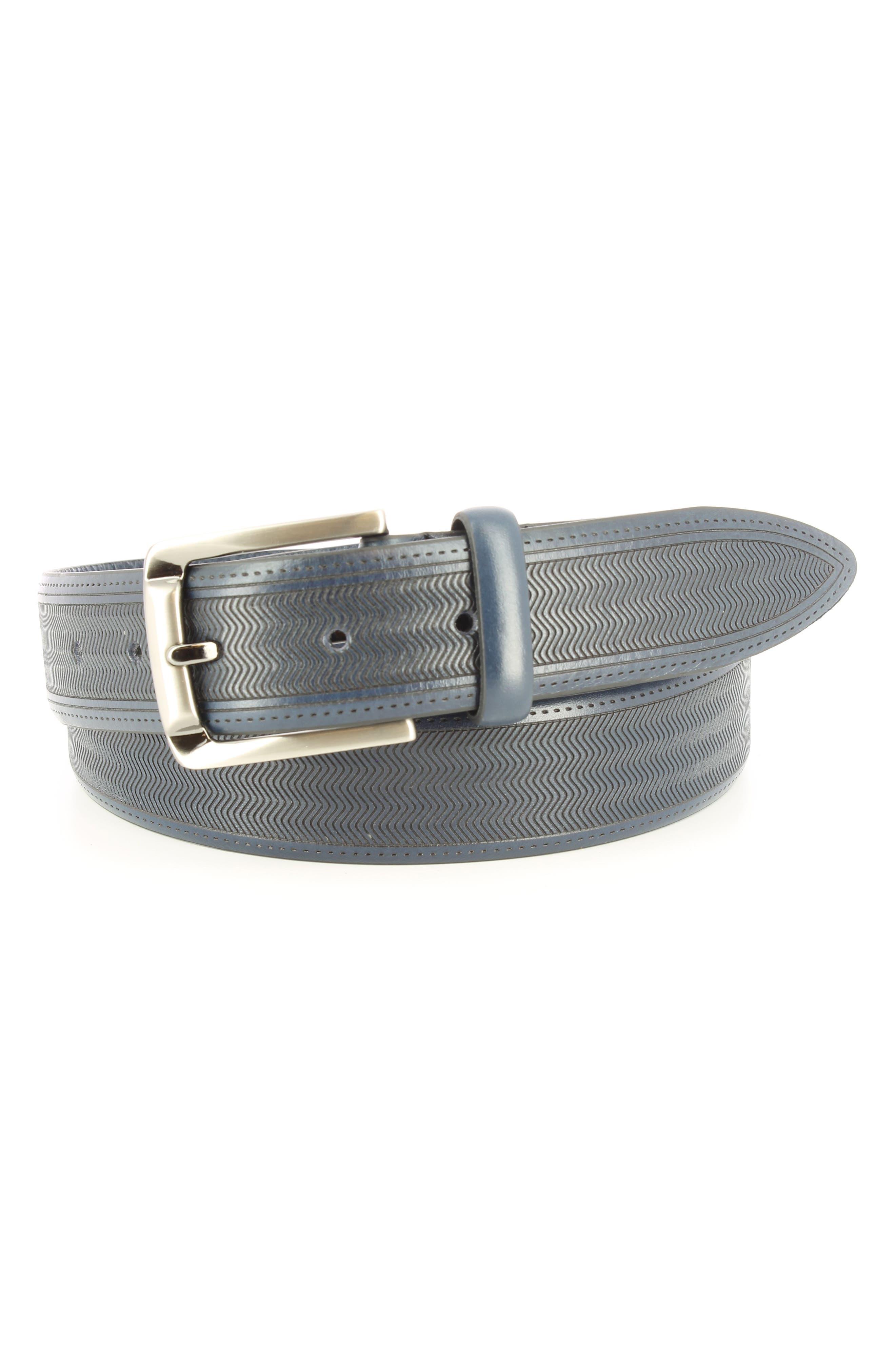 Raspail Leather Belt,                         Main,                         color, Navy