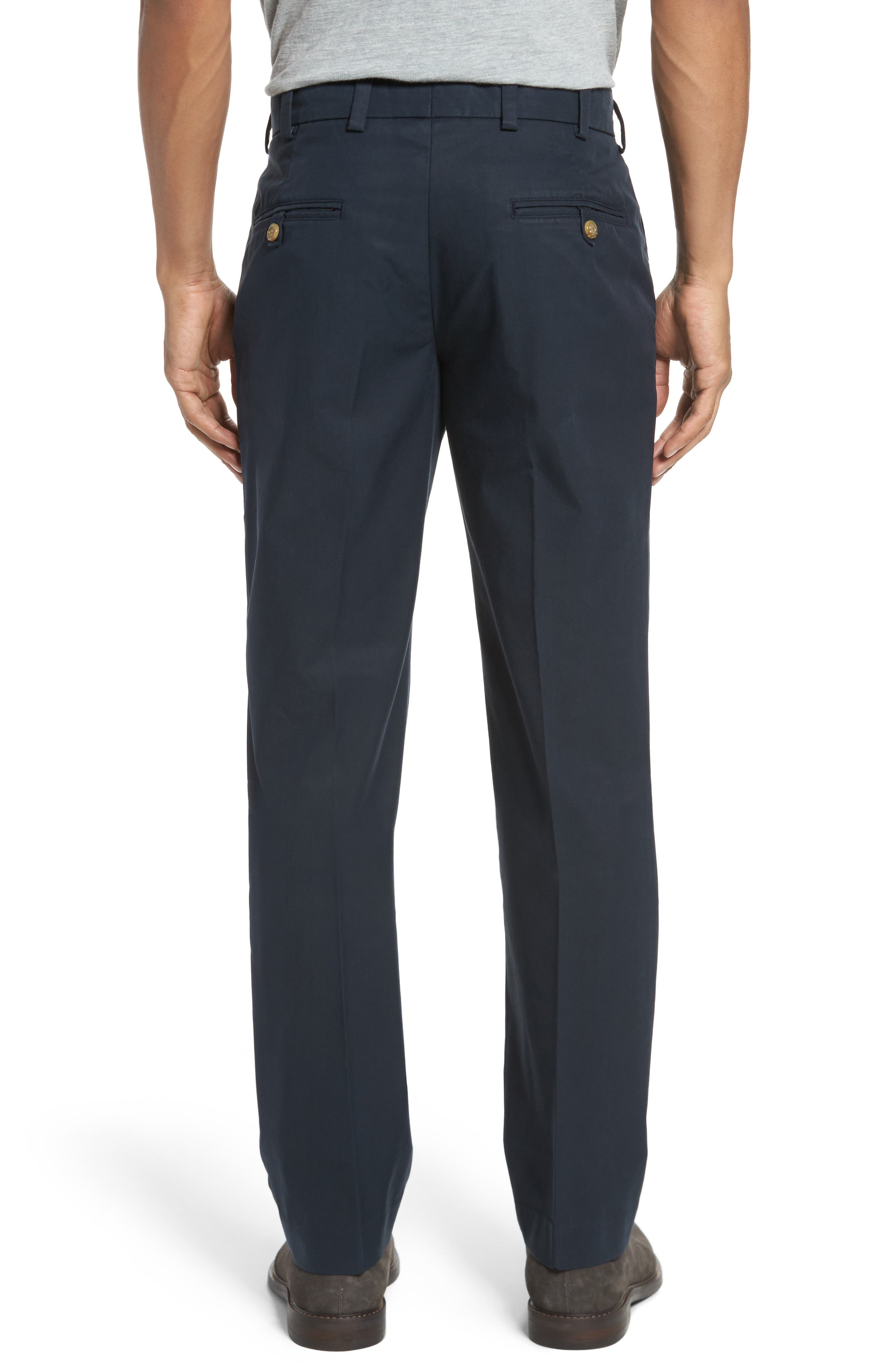 Straight Fit Travel Twill Pants,                             Alternate thumbnail 2, color,                             Navy